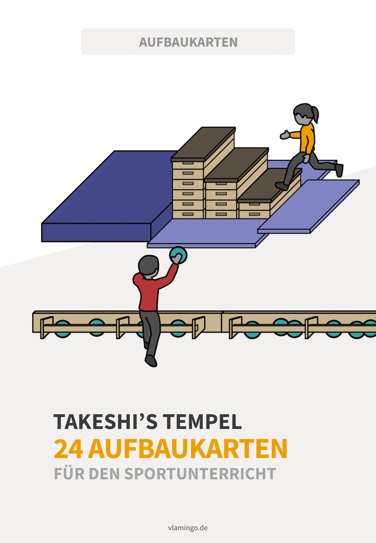 Takeshi's Tempel (Castle) - Aufbaukarten für den Sportunterricht