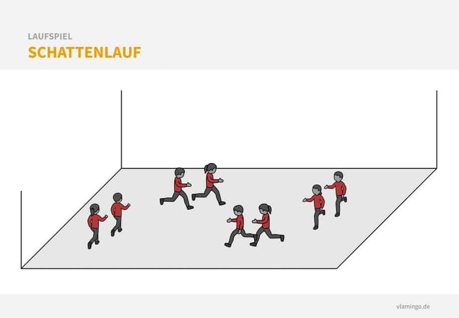 Laufspiel - Schattenlauf
