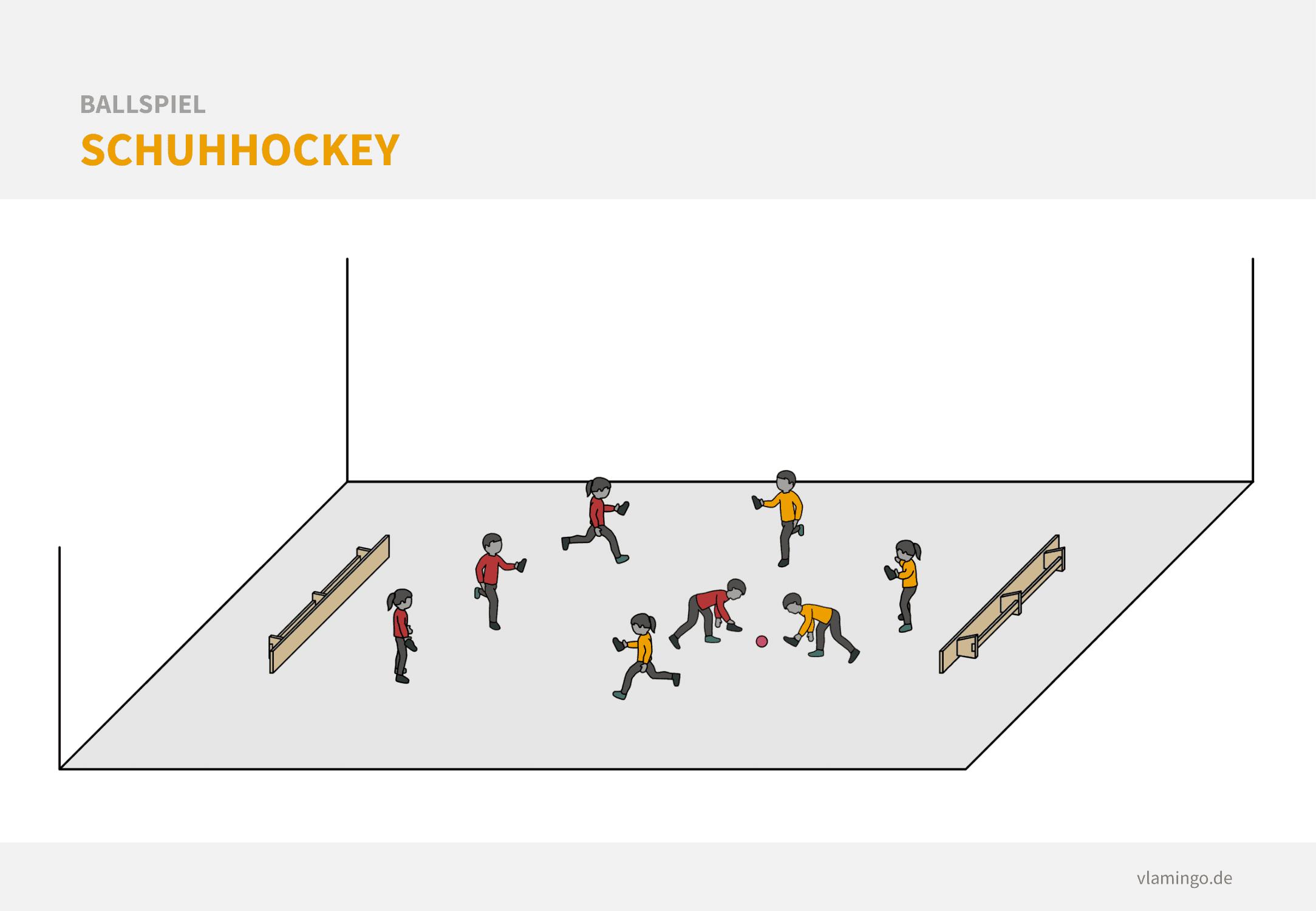 Ballspiel: Schuhhockey