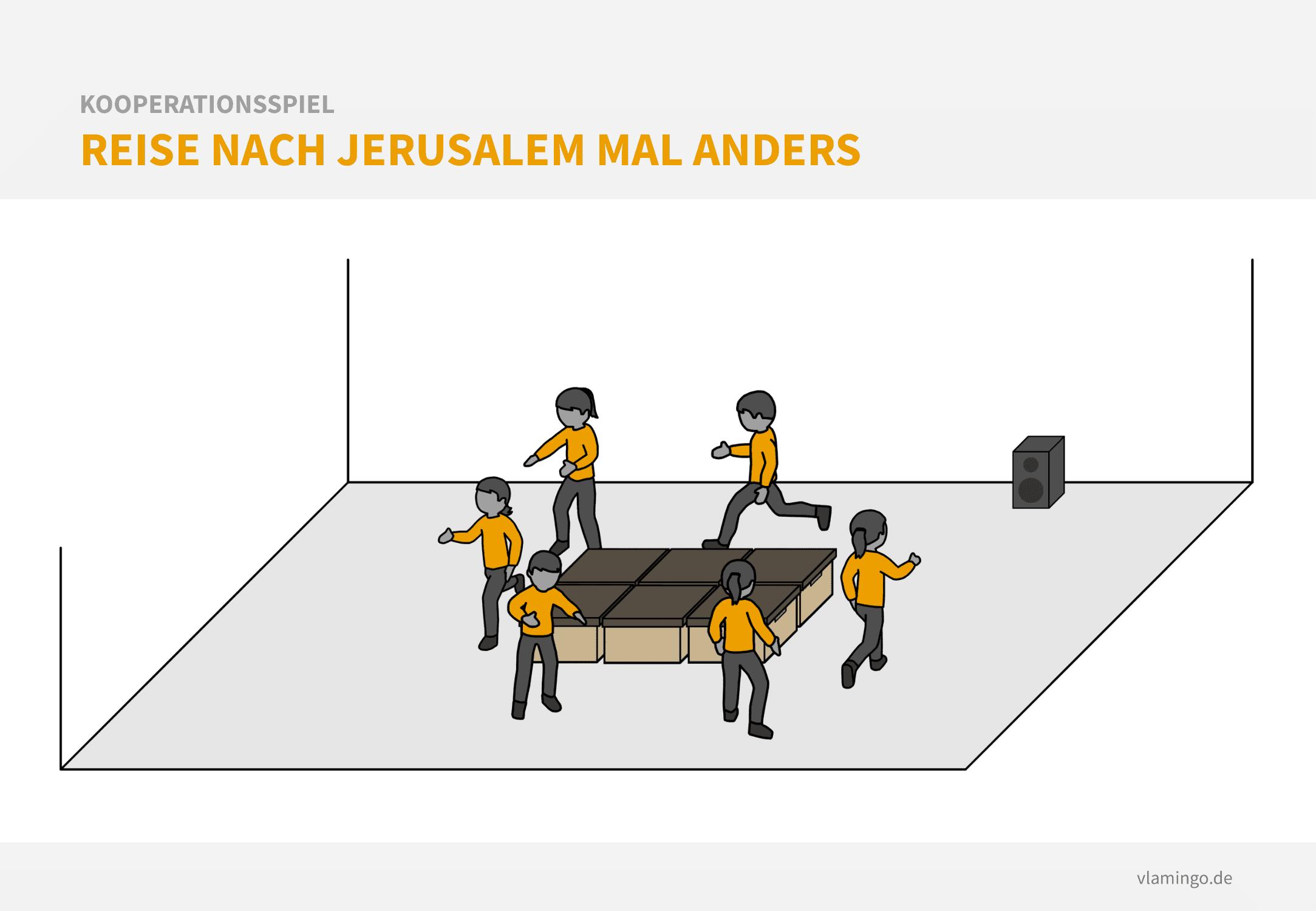 Kooperationsspiel: Reise nach Jerusalem mal anders