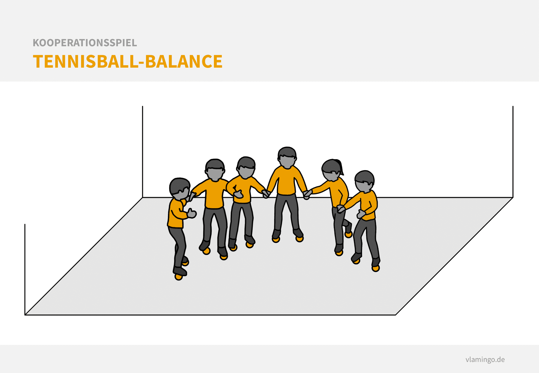 Kooperationsspiel: Tennisball-Balance