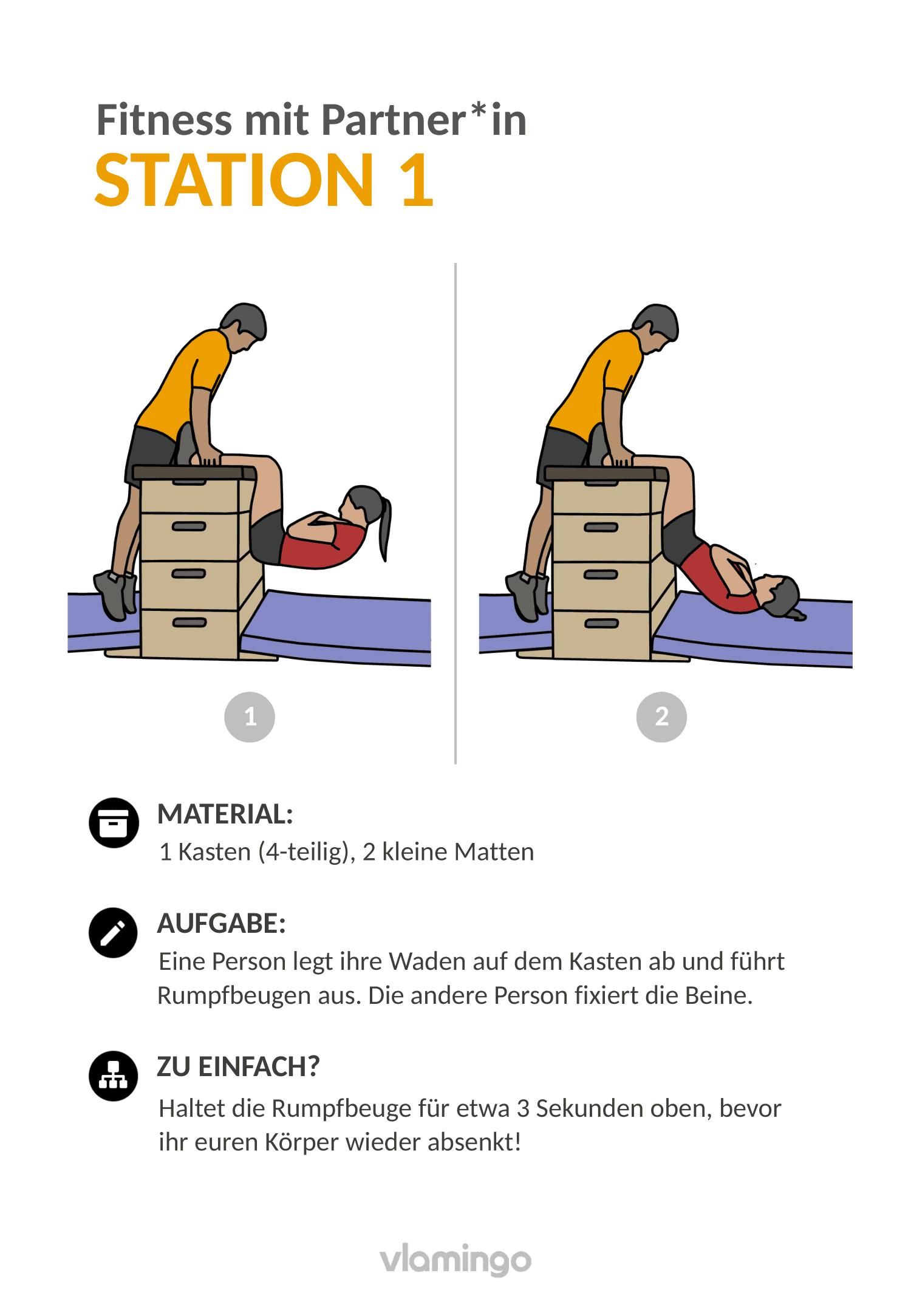 Fitness mit Partner - Übung 1