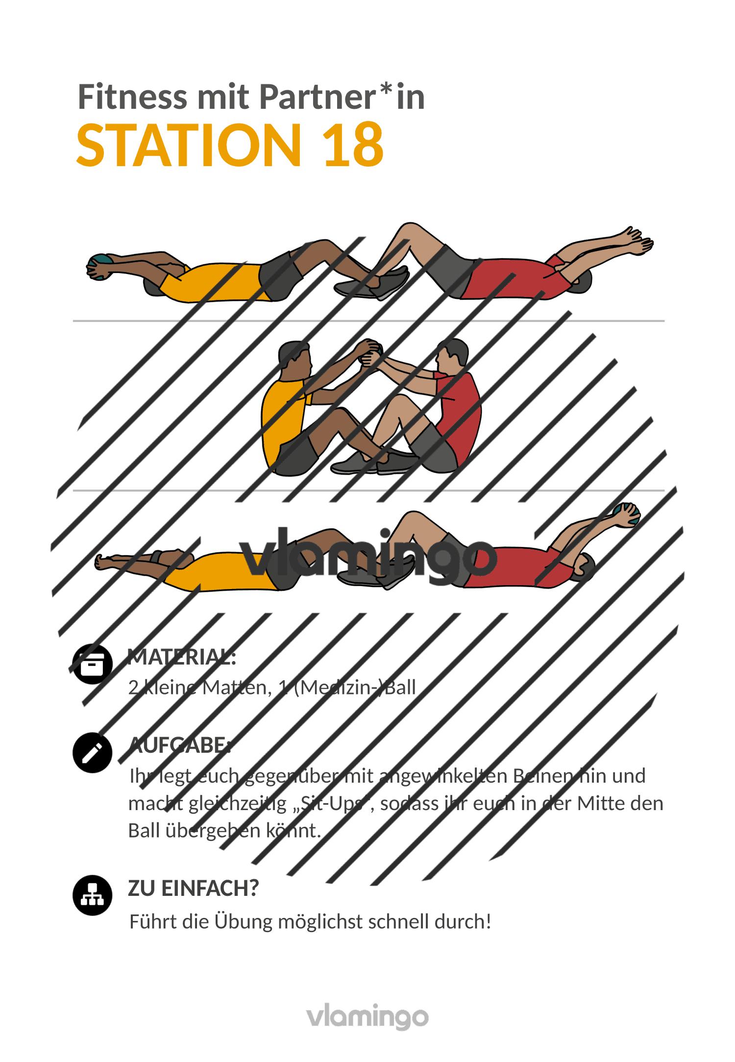 Fitness mit Partner - Übung 18