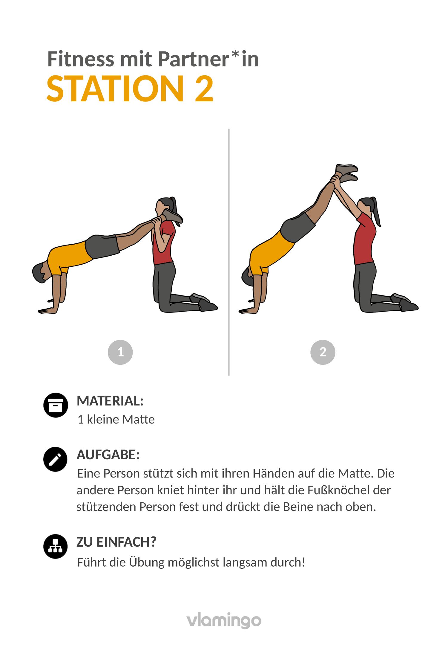 Fitness mit Partner - Übung 2
