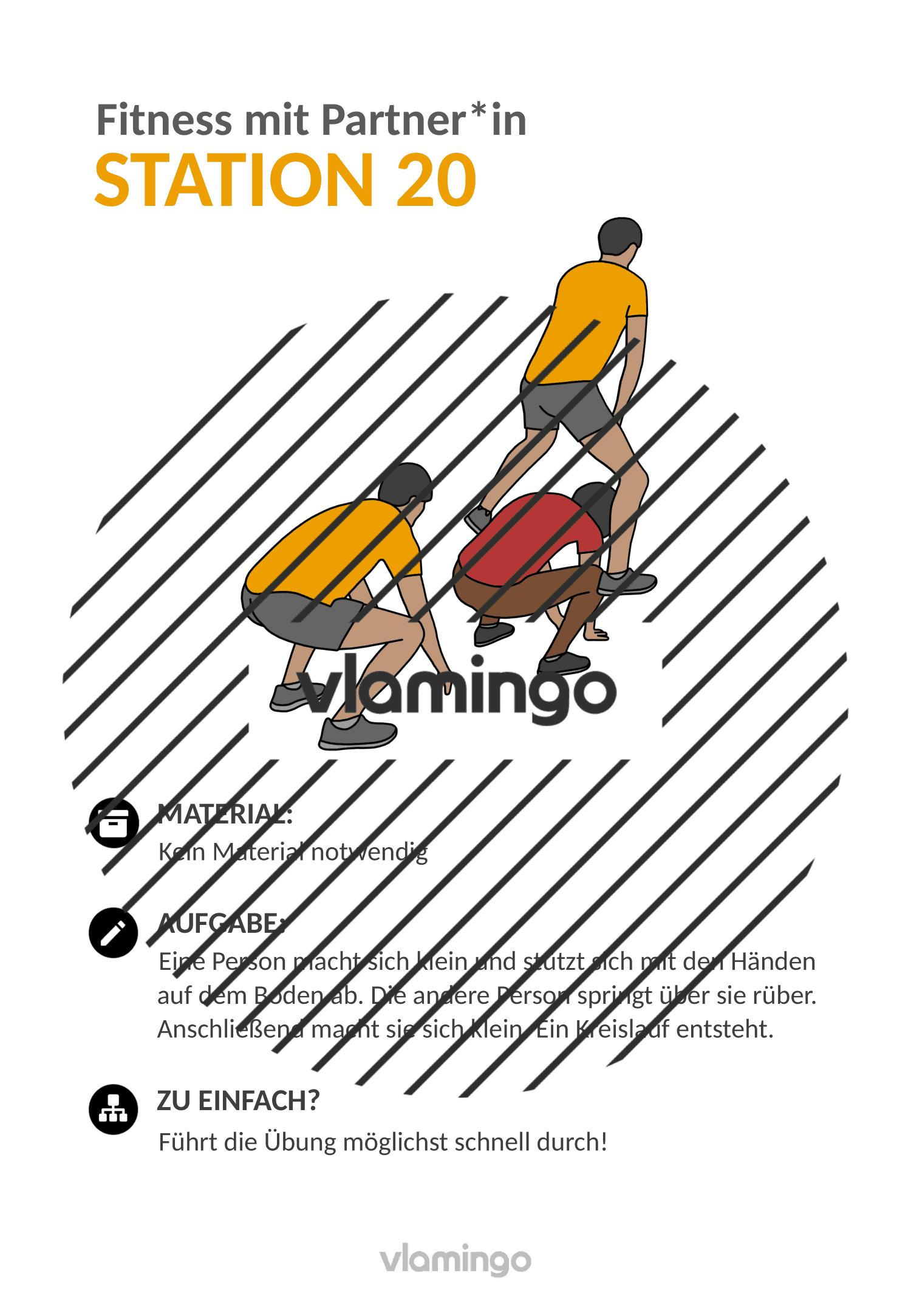 Fitness mit Partner - Übung 20