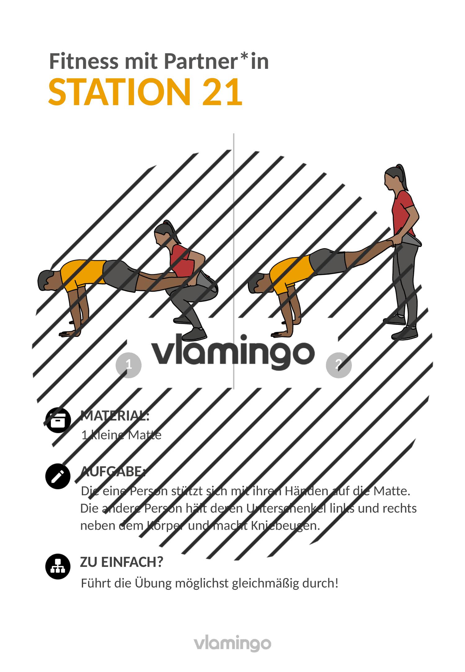Fitness mit Partner - Übung 21