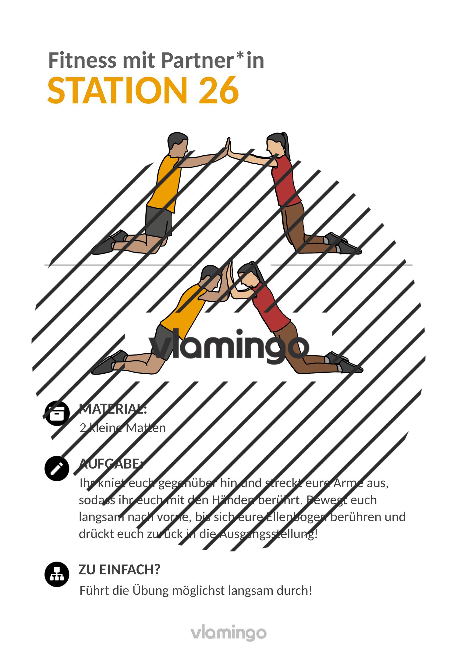 Fitness mit Partner - Übung 26