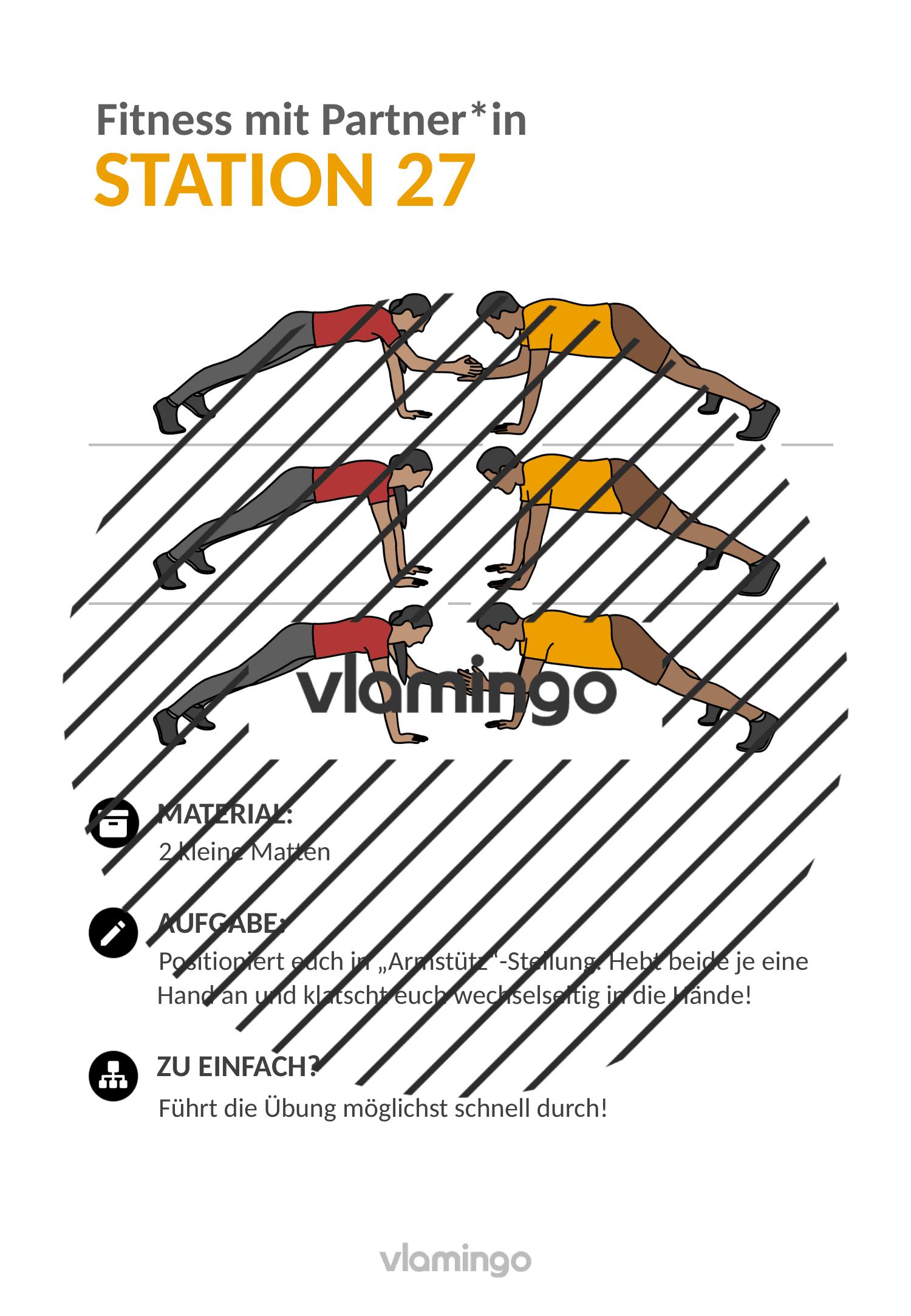 Fitness mit Partner - Übung 27