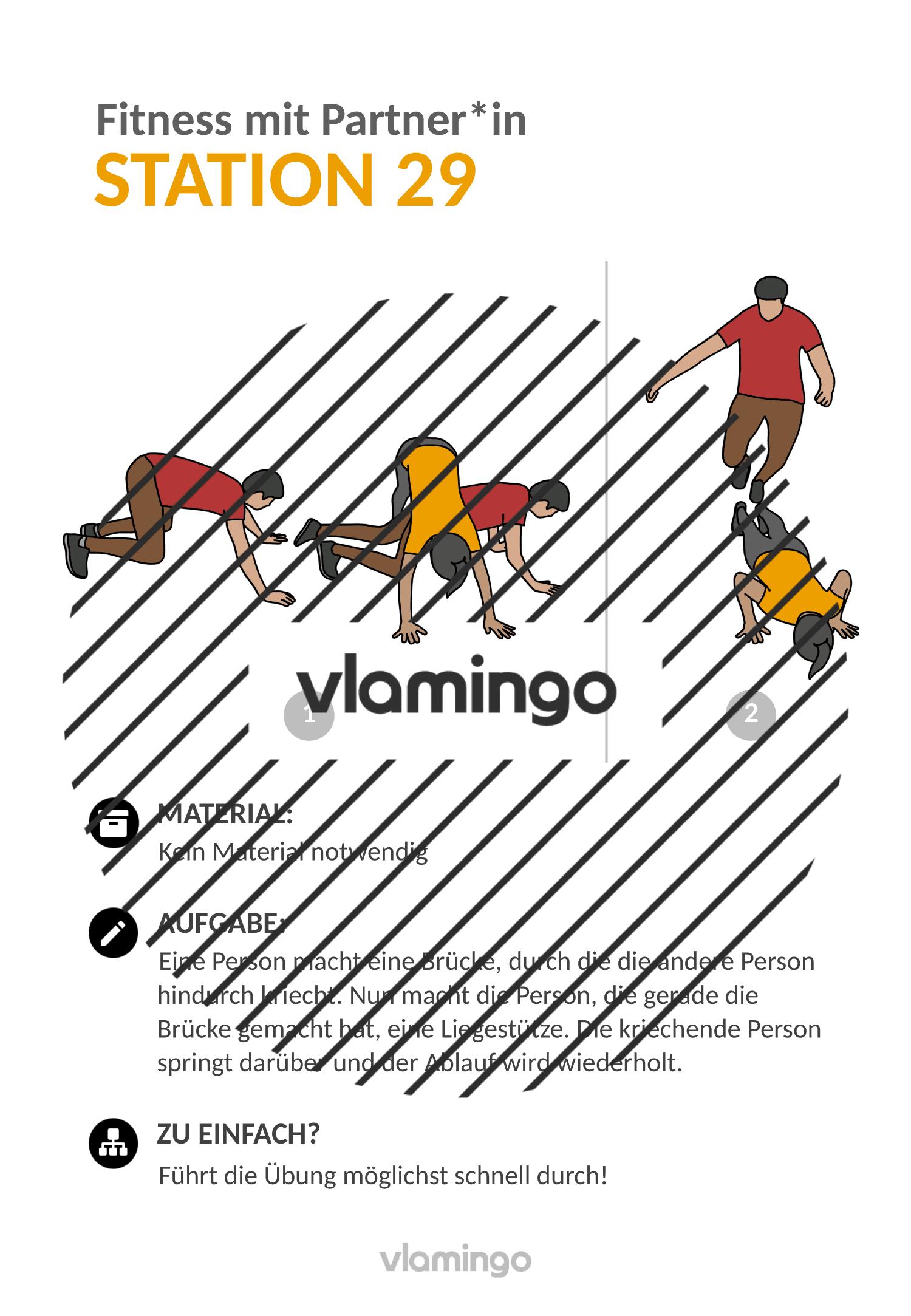 Fitness mit Partner - Übung 29