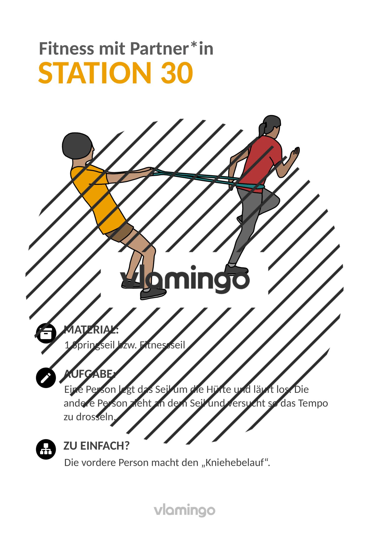 Fitness mit Partner - Übung 30