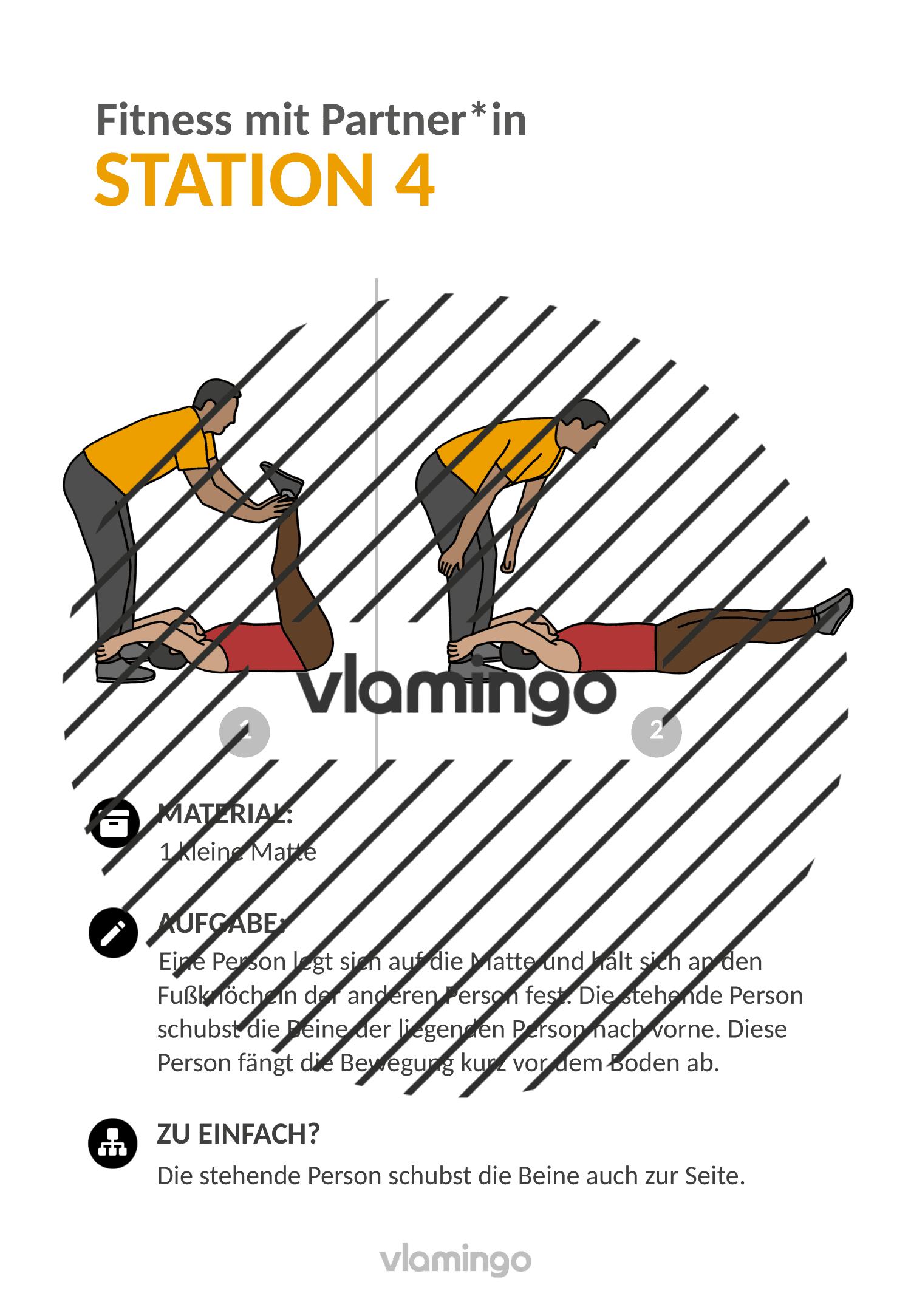 Fitness mit Partner - Übung 4