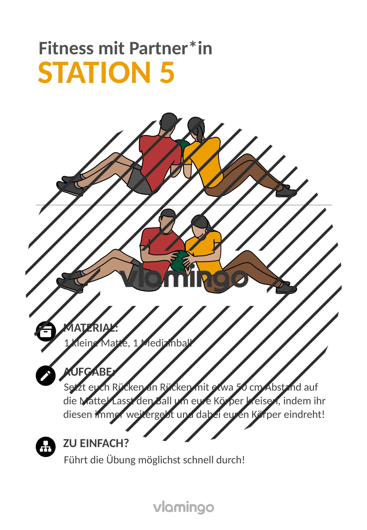 Fitness mit Partner - Übung 5