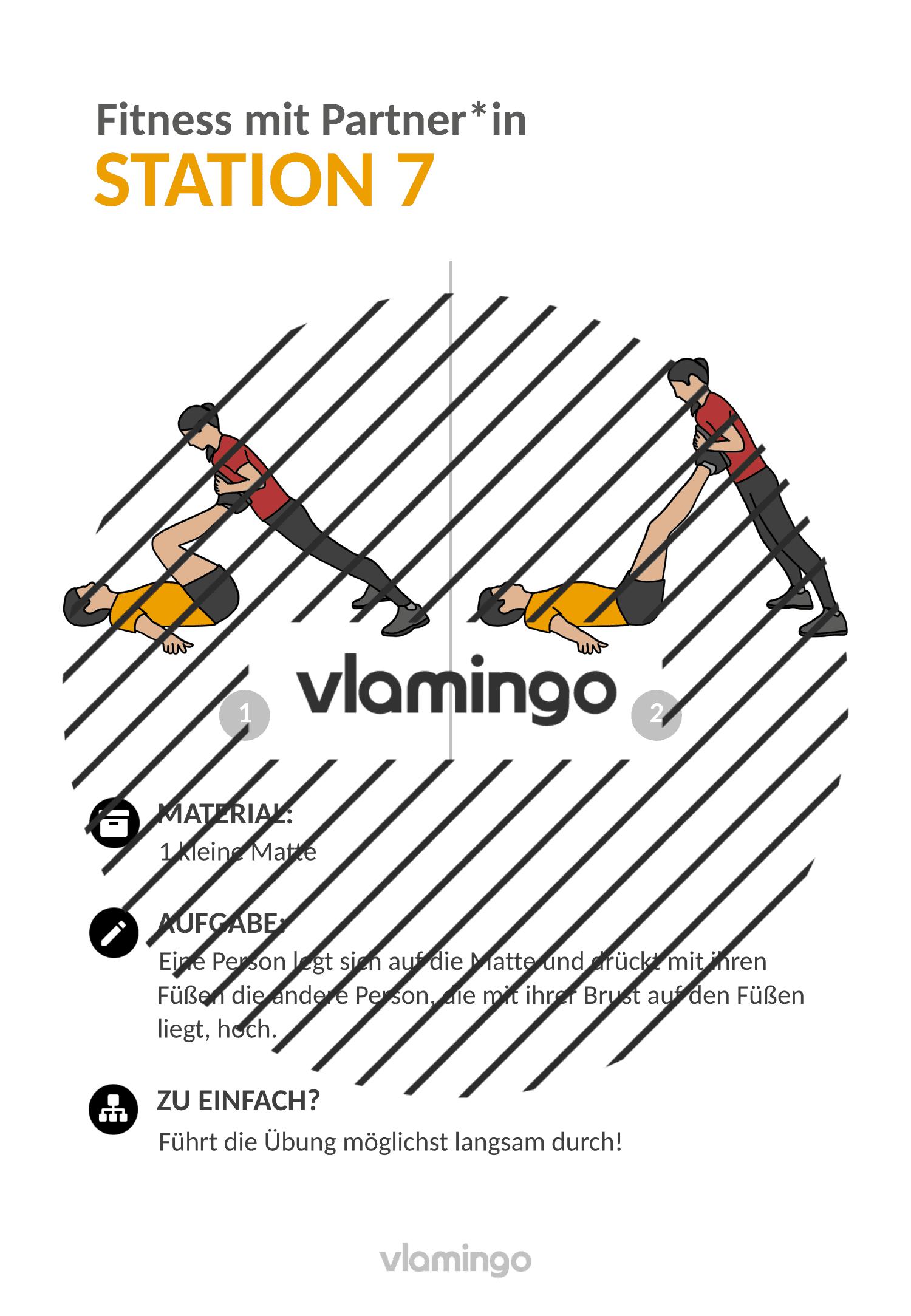 Fitness mit Partner - Übung 7