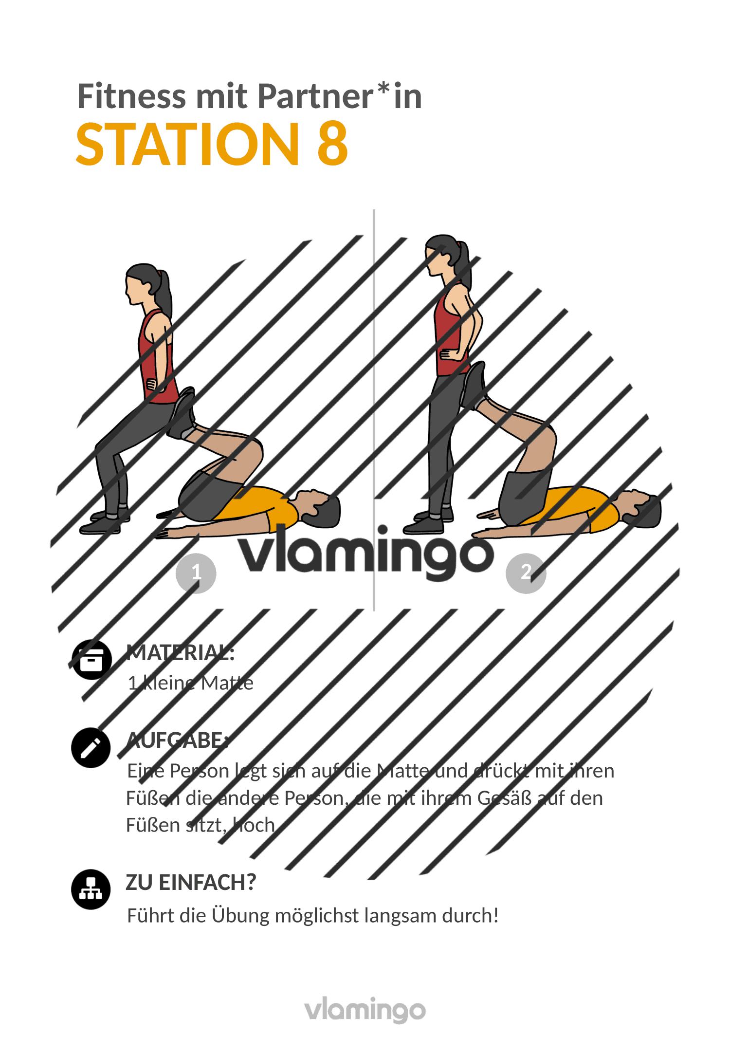 Fitness mit Partner - Übung 8