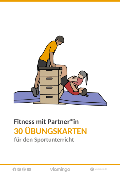 Fitness mit Partner (30 Fitnessübungen) - Deckblatt