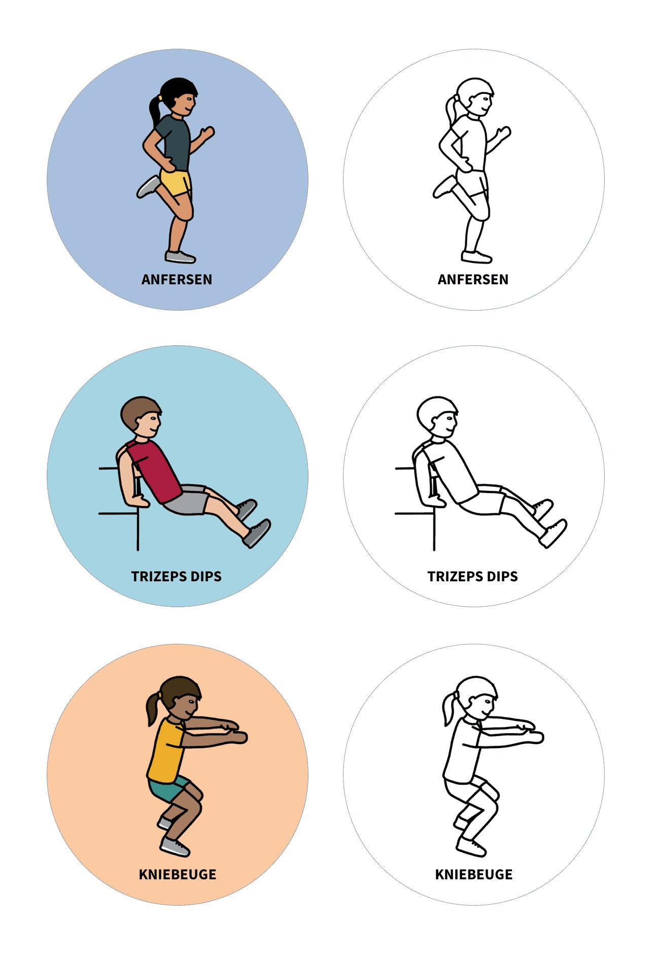 Schaumstoff-Bewegungswürfel für den Unterricht - Bastelvorlage