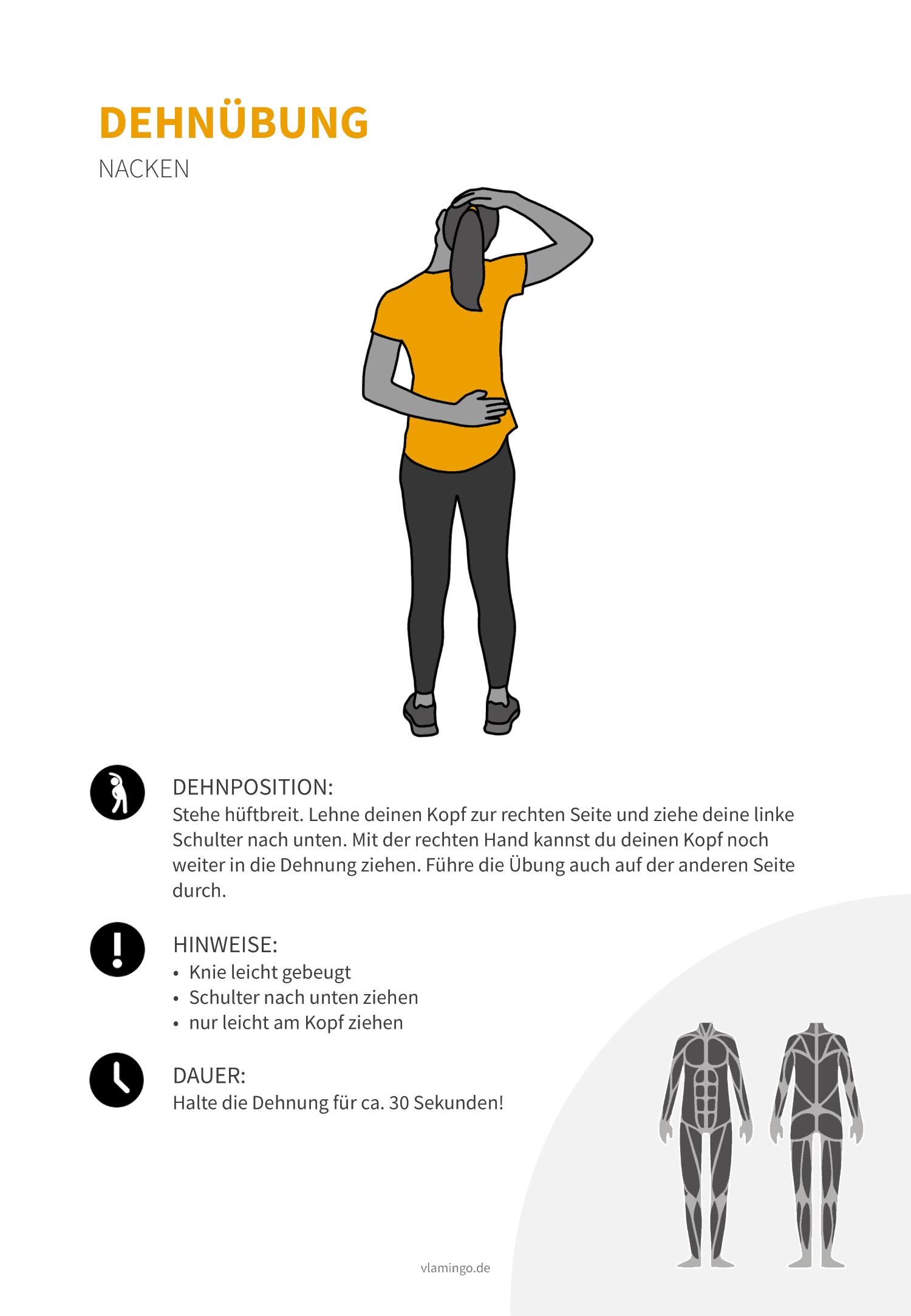 Dehnübung 007 - Schultern & Nacken