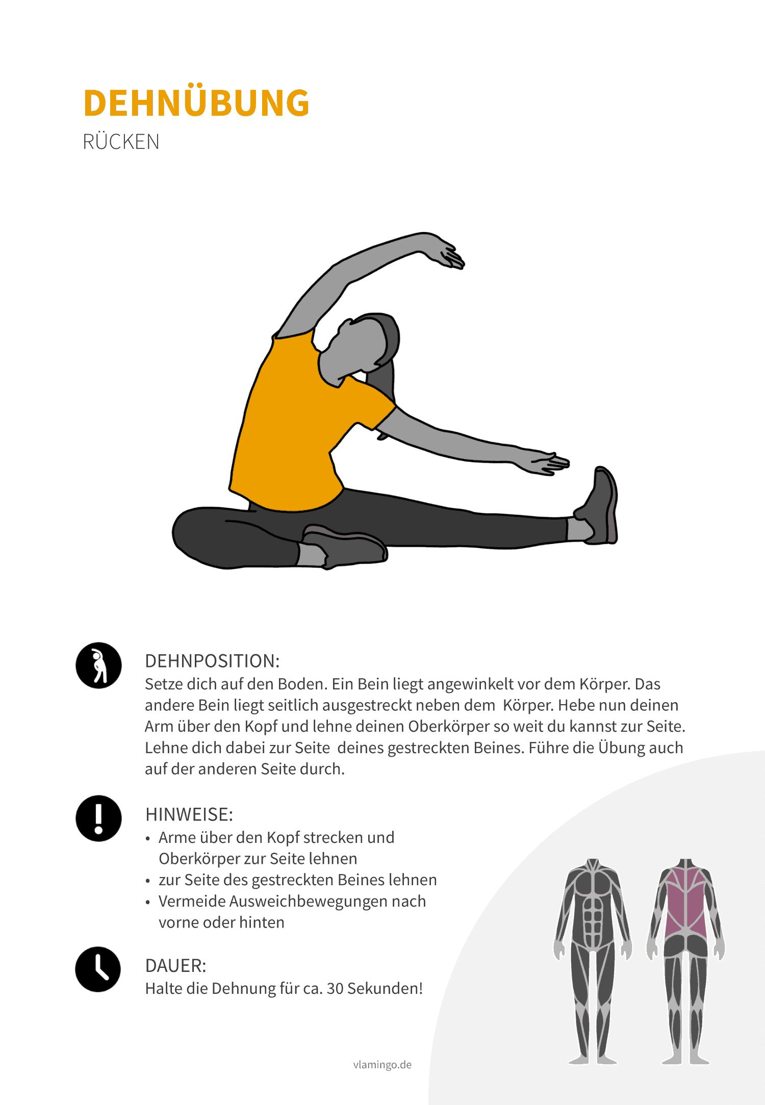 Dehnübung 016 - Rücken