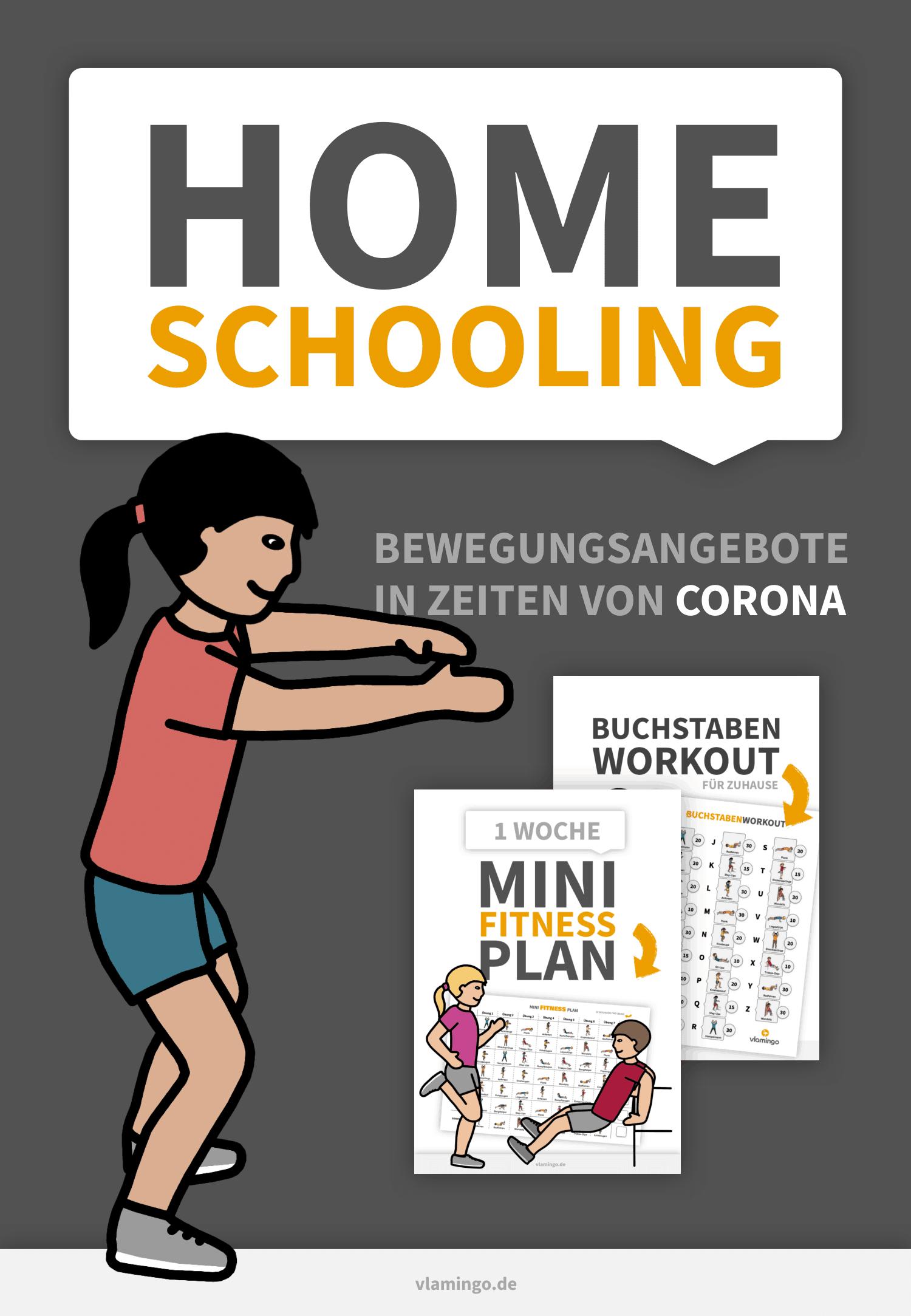Homeschooling - Bewegungsangebote von vlamingo - Deckblatt