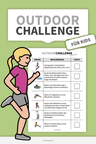 Outdoor-Challenge für Kids - vlamin