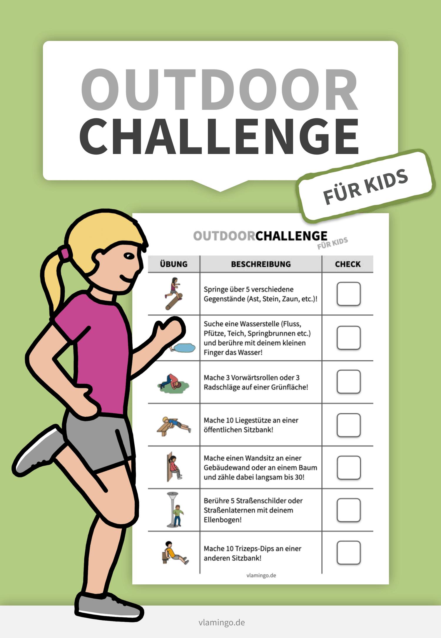 Outdoor-Challenge für Kids - vlamingo