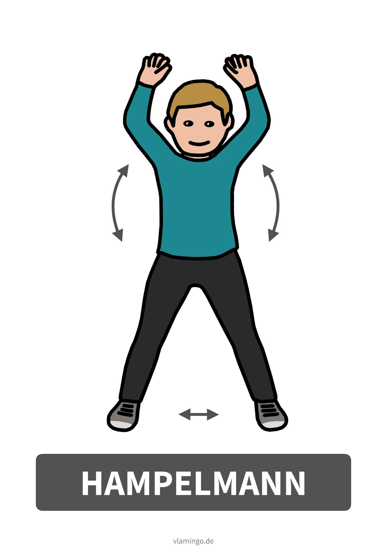 Bewegungskarte - Hampelmann