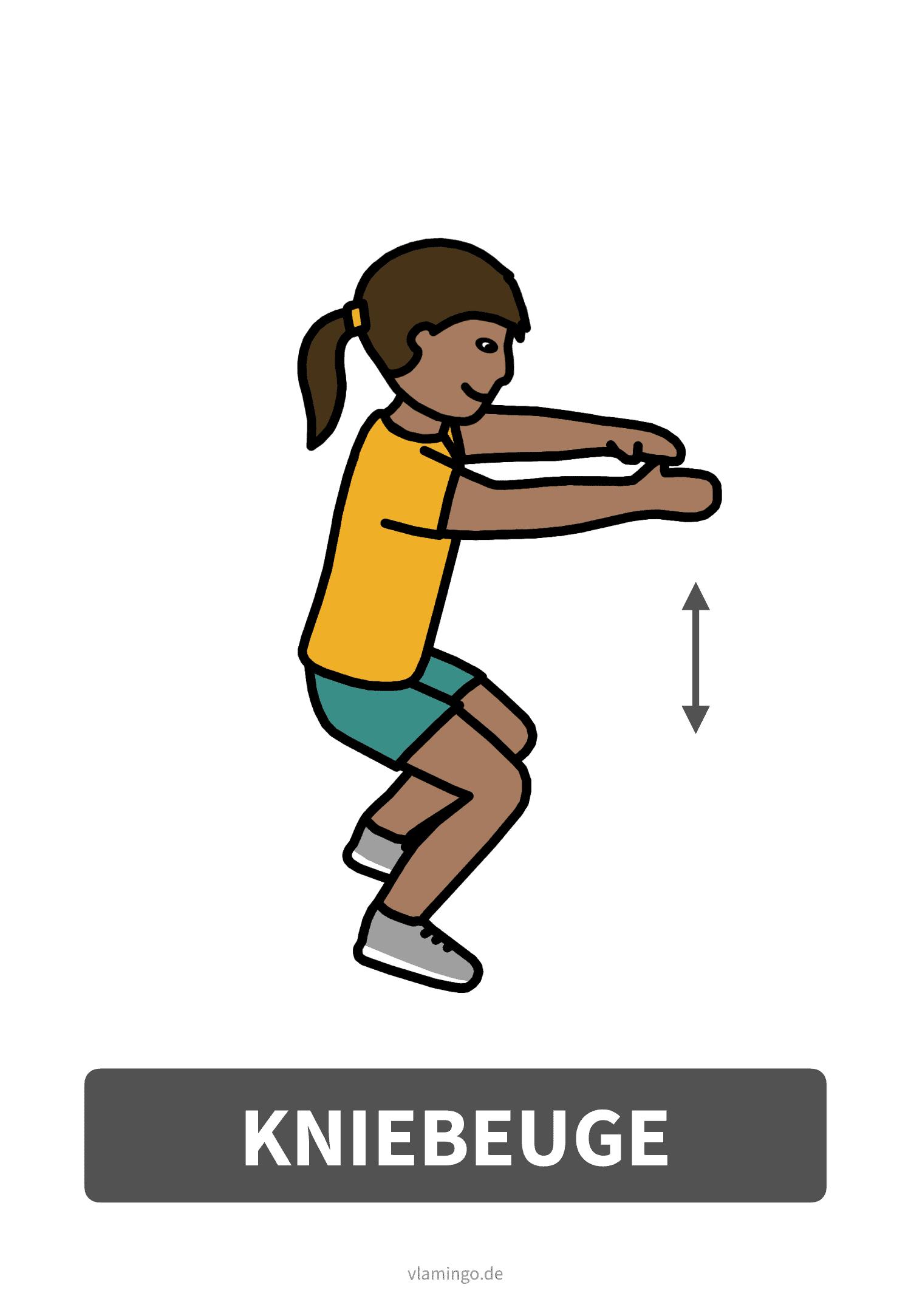 Bewegungskarte - Kniebeugen