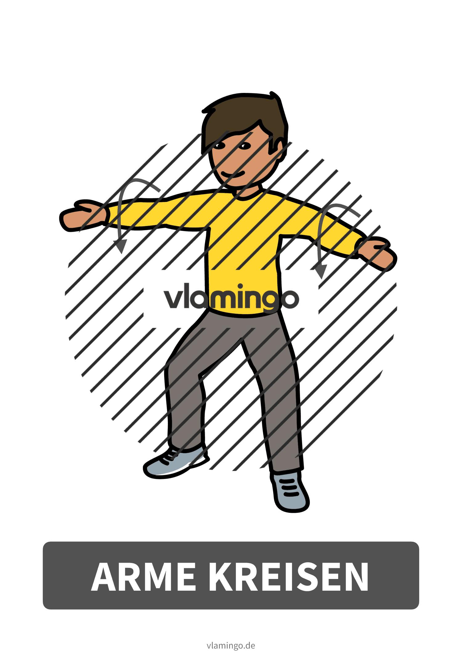 Bewegungskarte - Arme kreisen