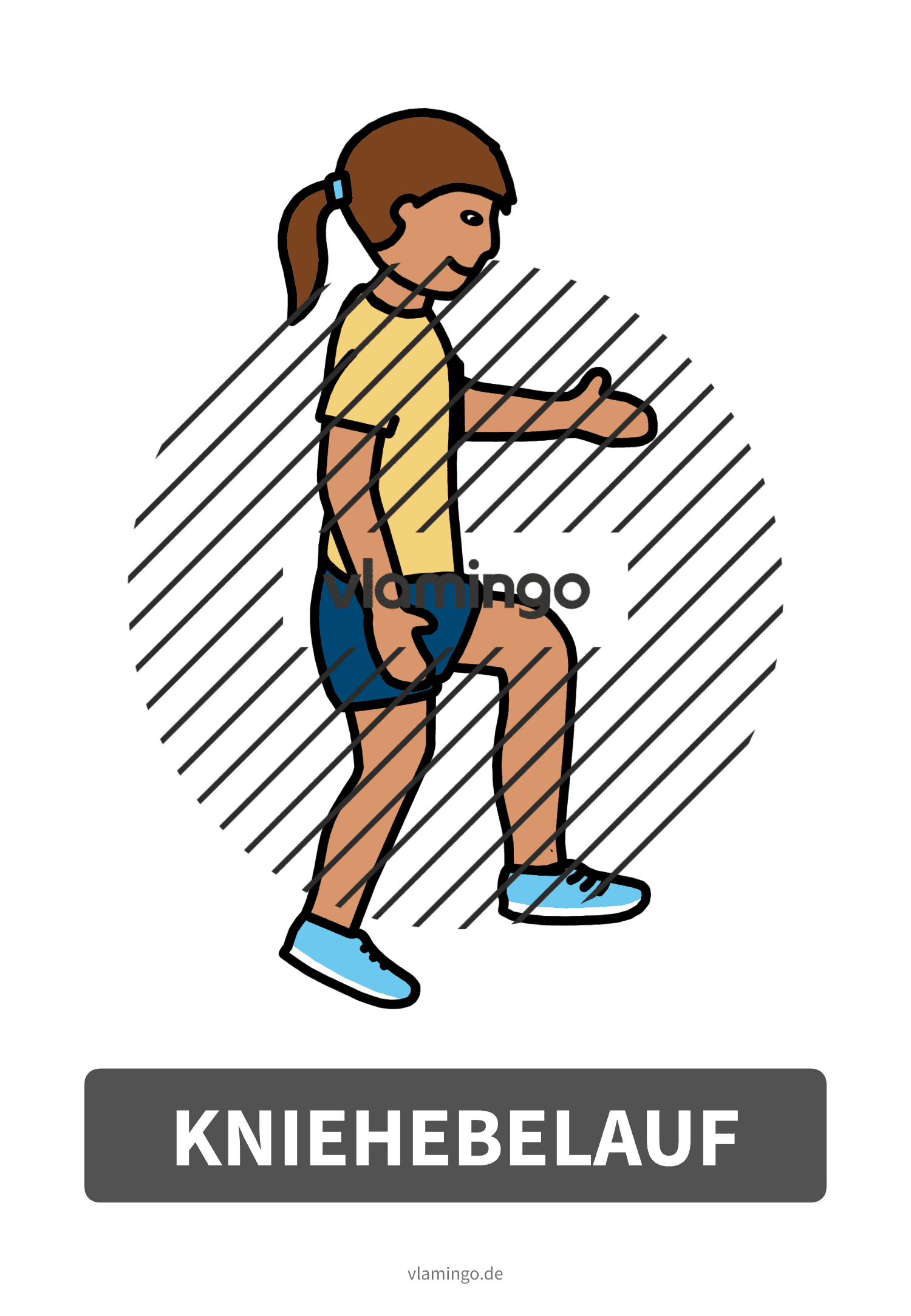 Bewegungskarte - Kniehebelauf