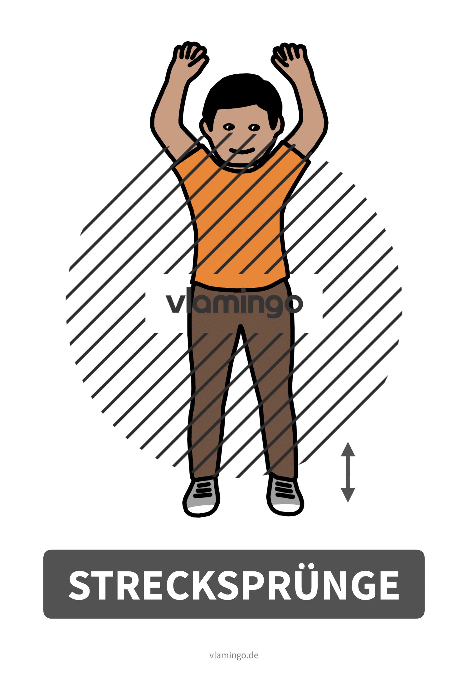 Bewegungskarte - Strecksprünge