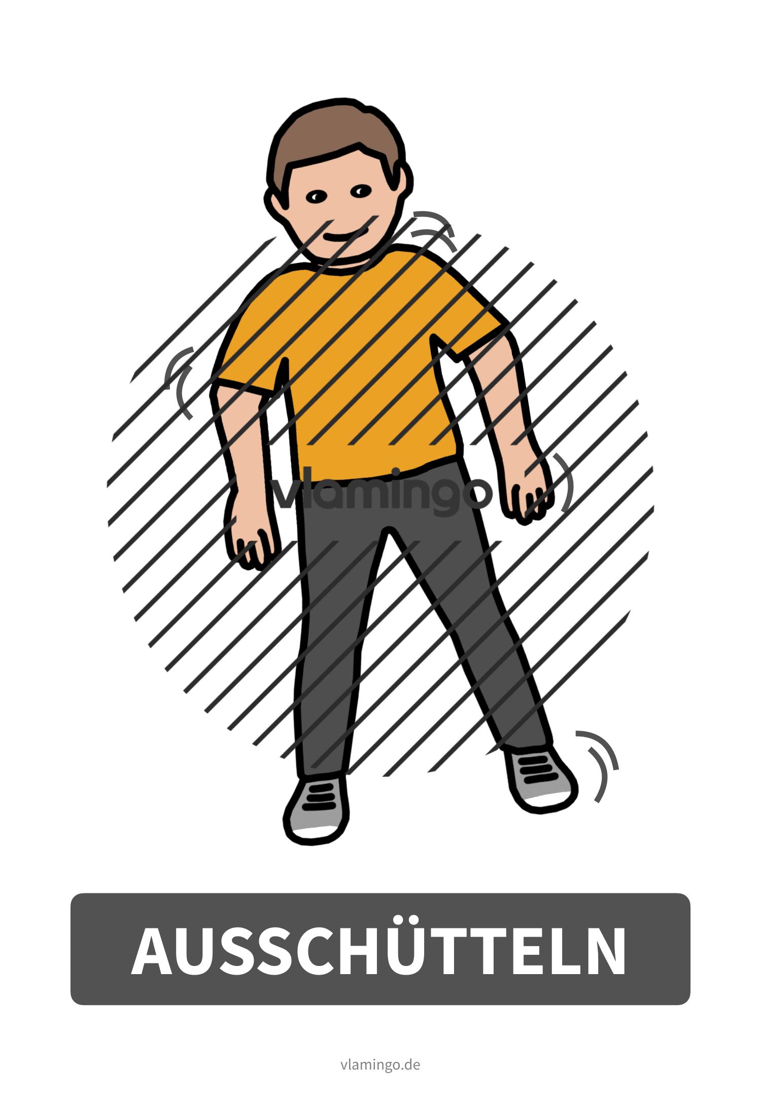Bewegungskarte - Ausschütteln