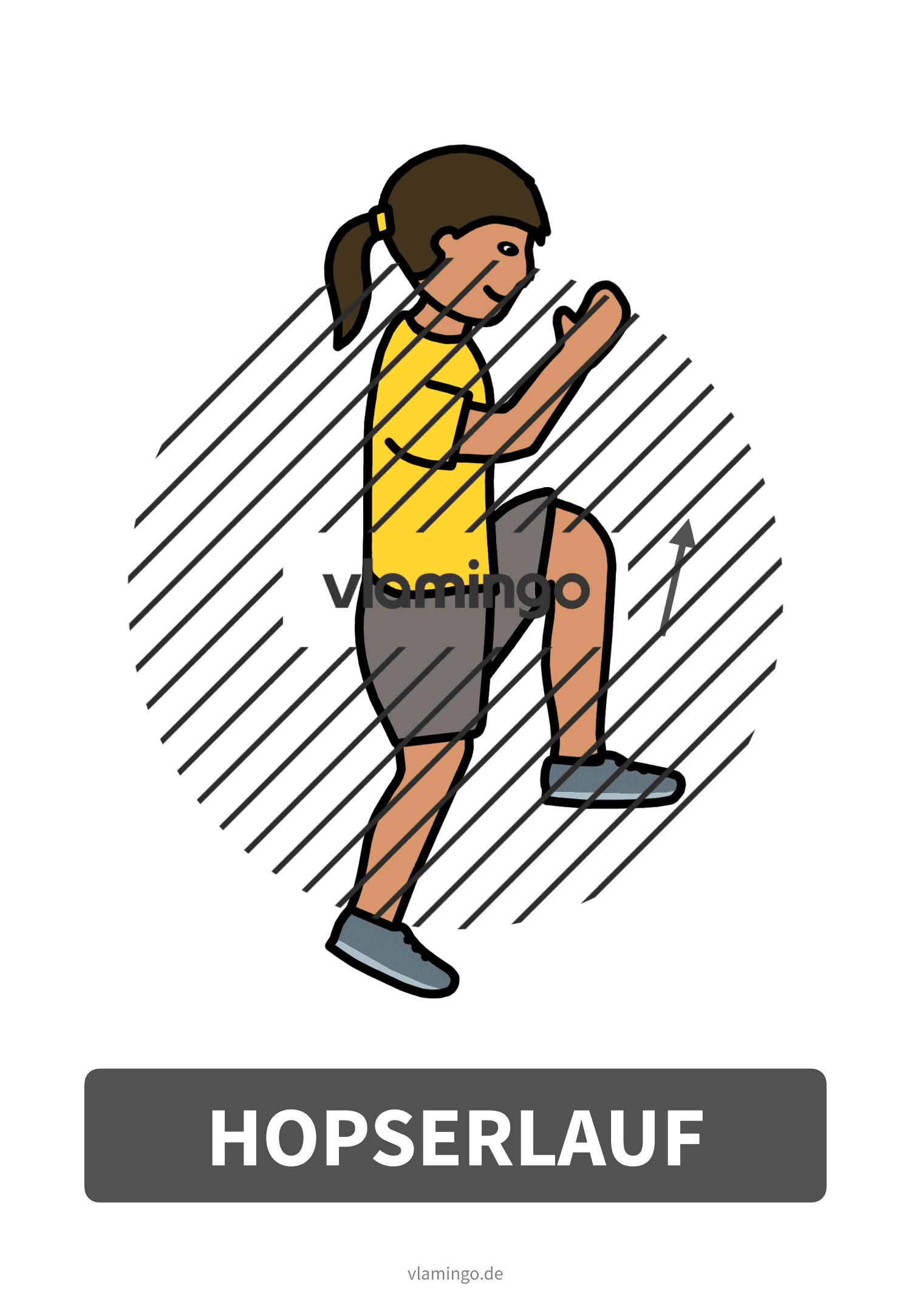 Bewegungskarte - Hopserlauf