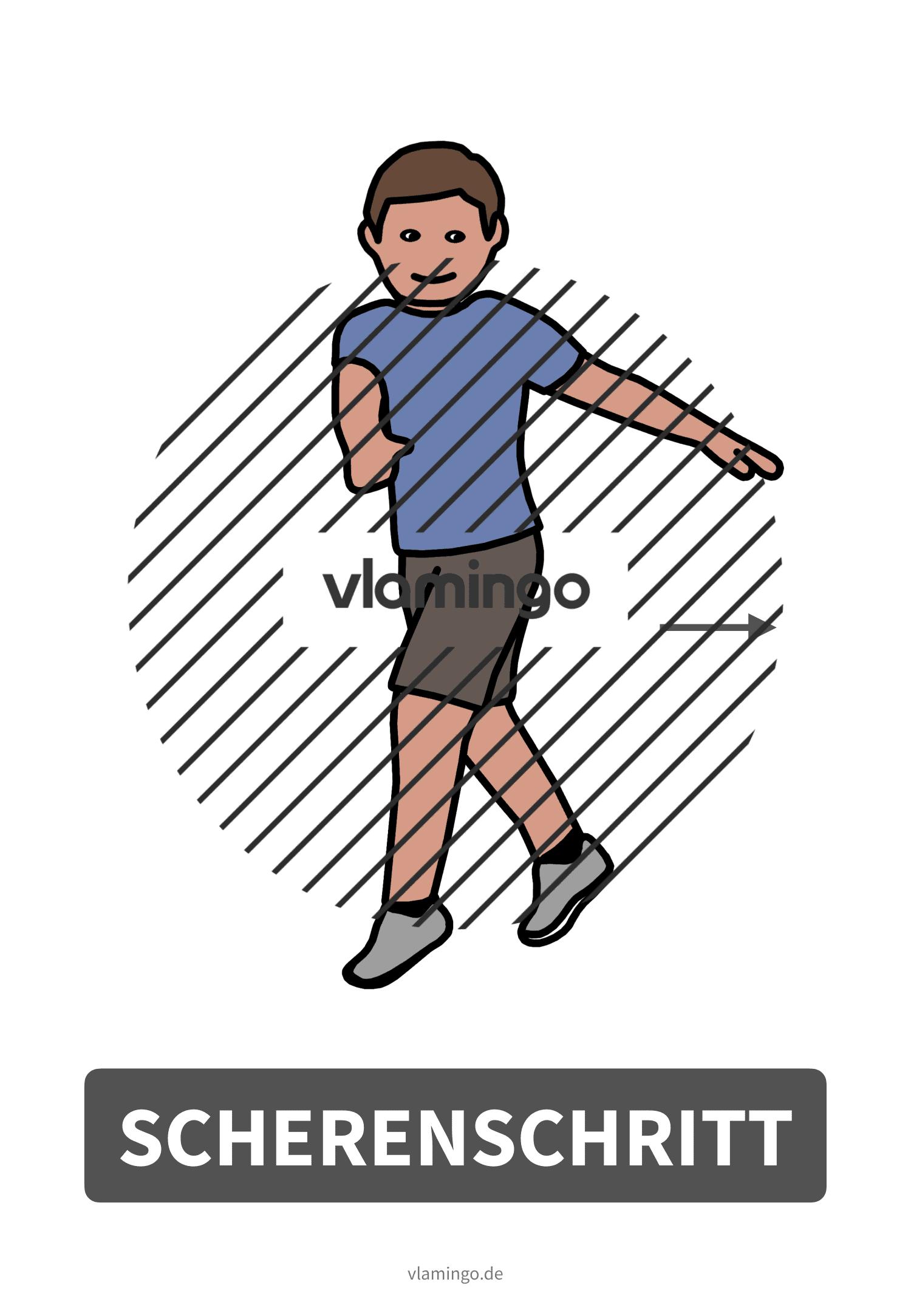 Bewegungskarte - Scherenschritt