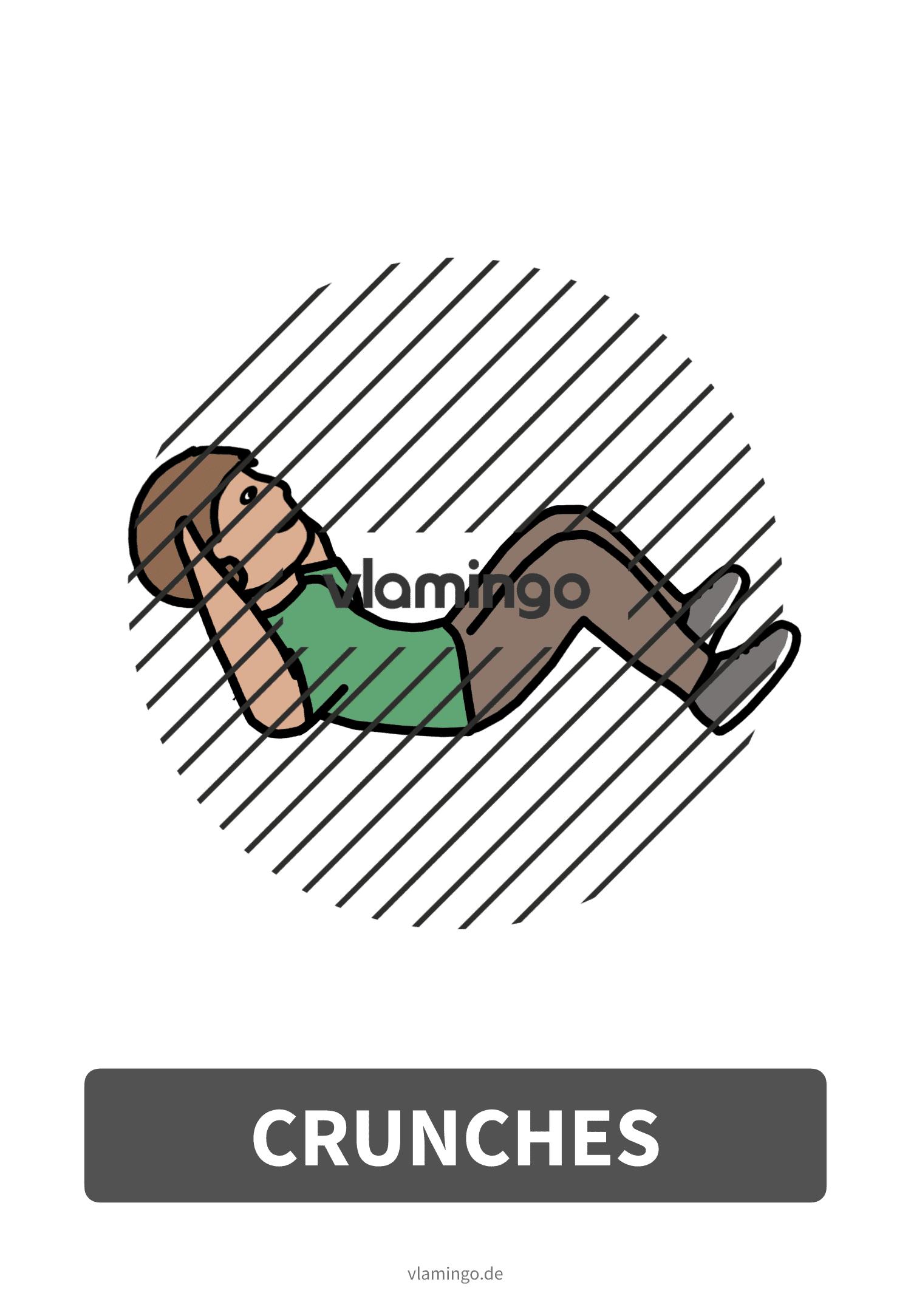 Bewegungskarte - Crunches