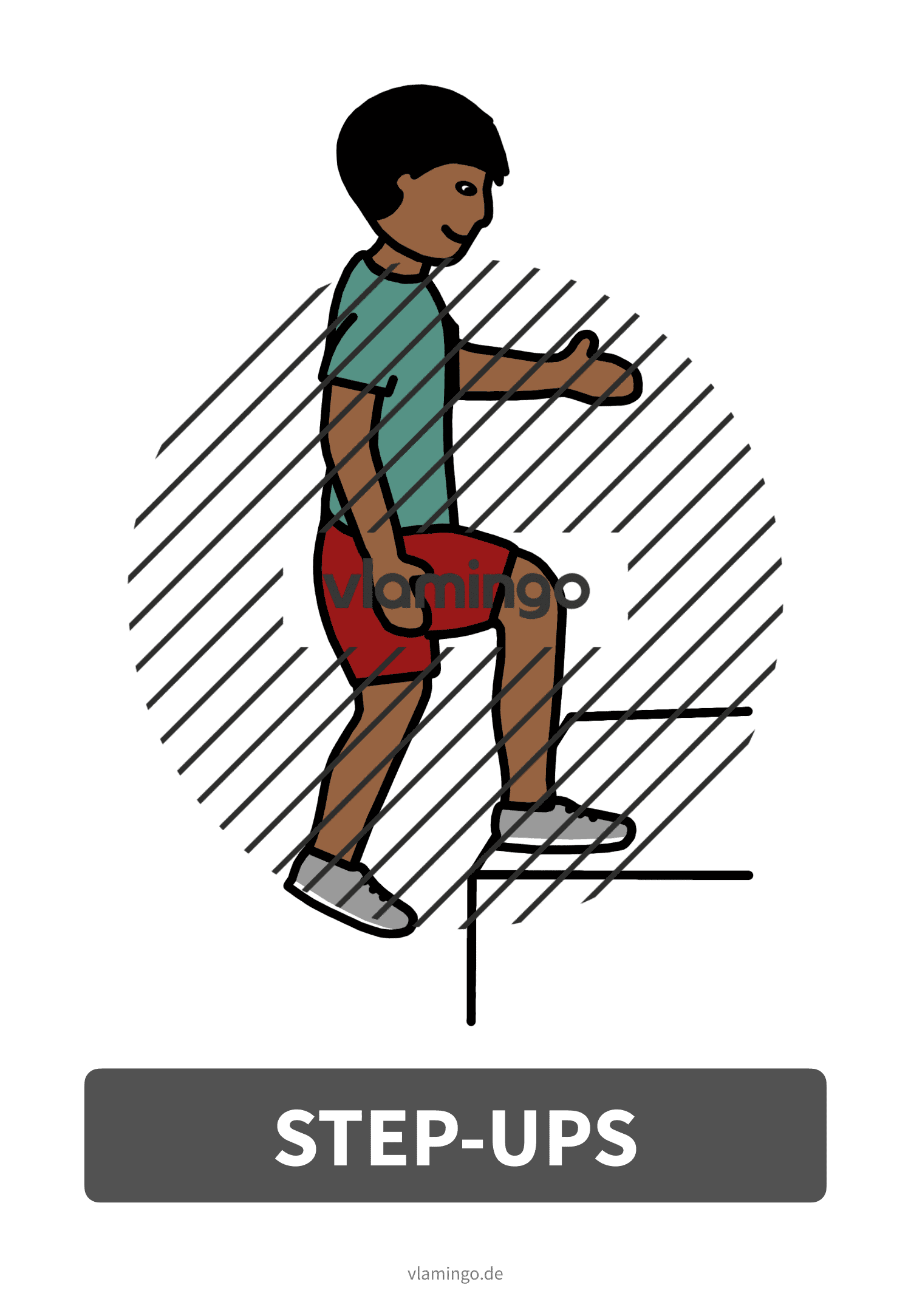 Bewegungskarte - Step-Ups