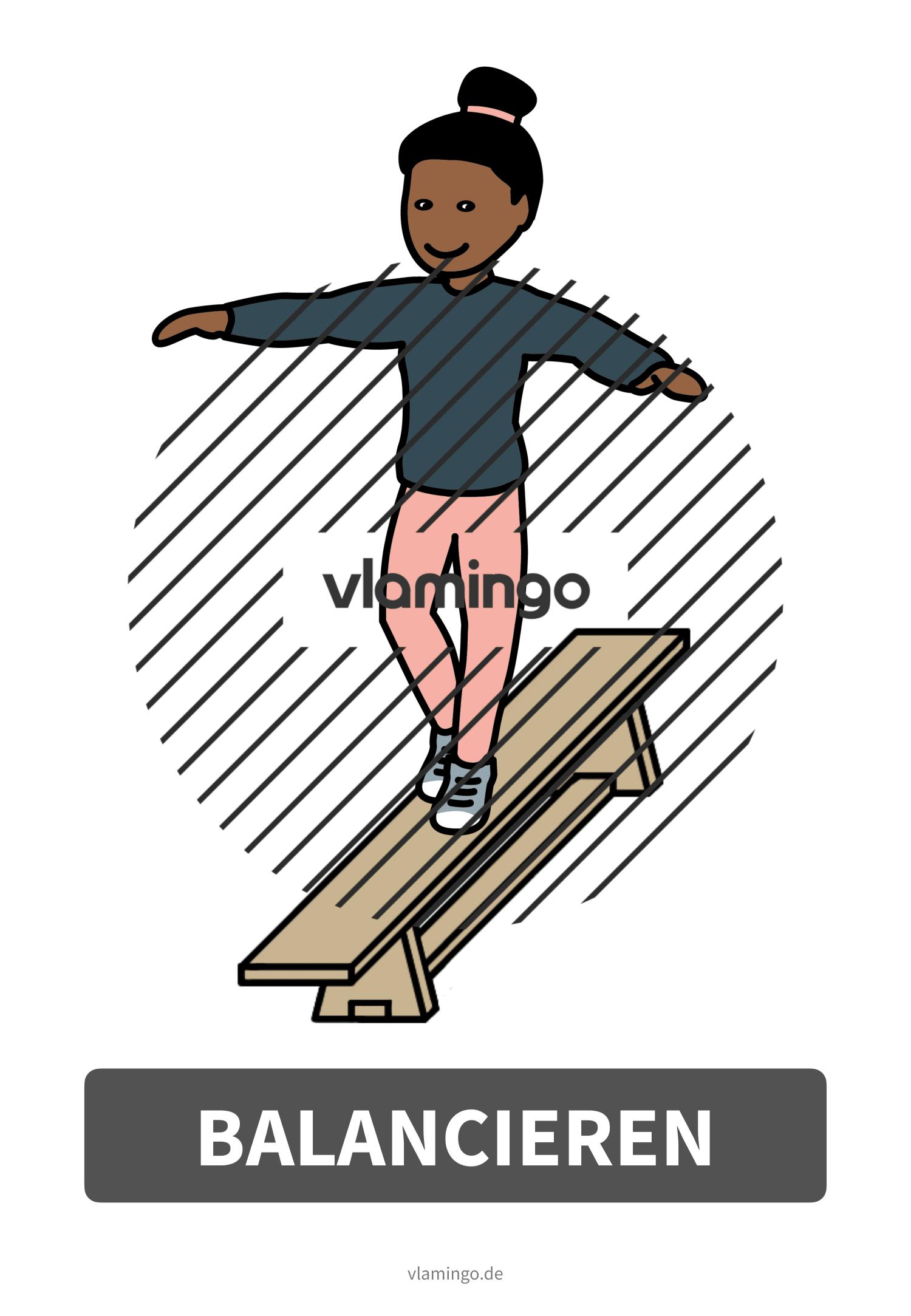 Bewegungskarte - Balancieren