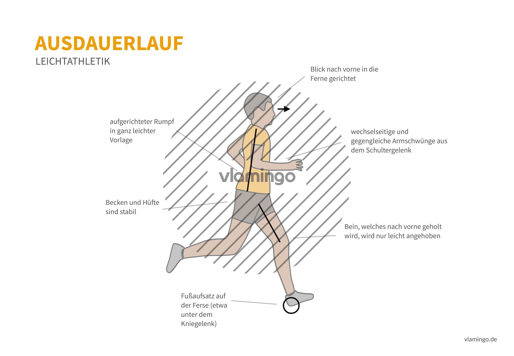 Sprint, Ausdauerlauf, Gehen - Vergleich - Leichtathletik