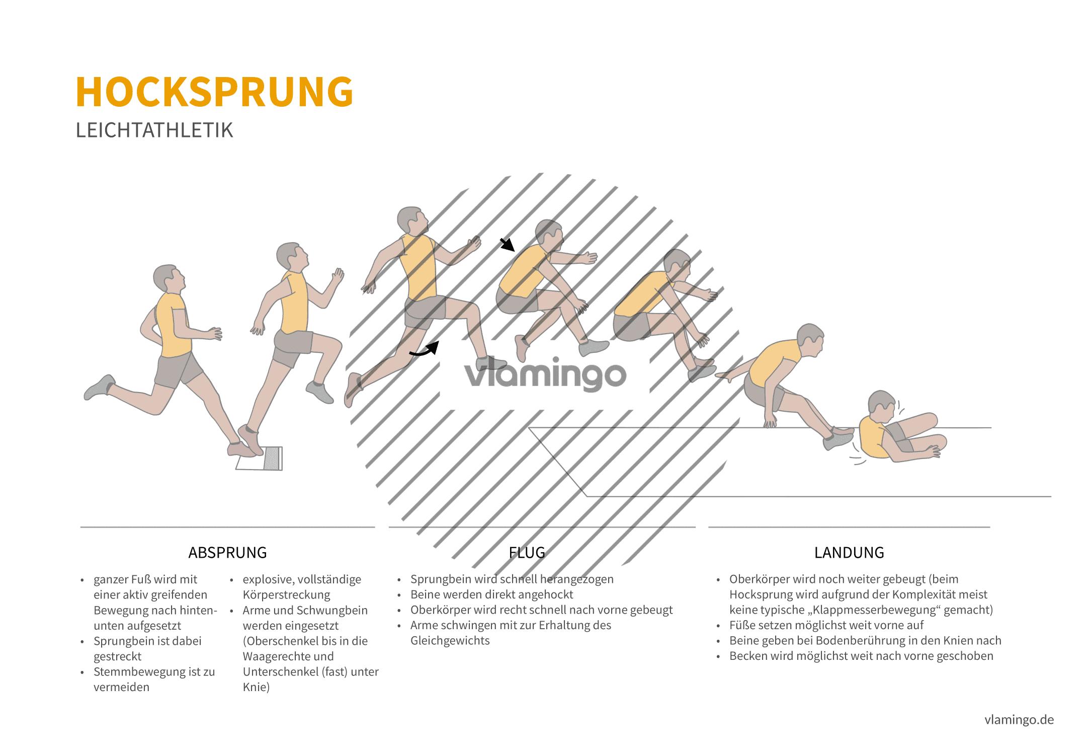 Hocksprung (Bewegungsanalyse) - Leichtathletik