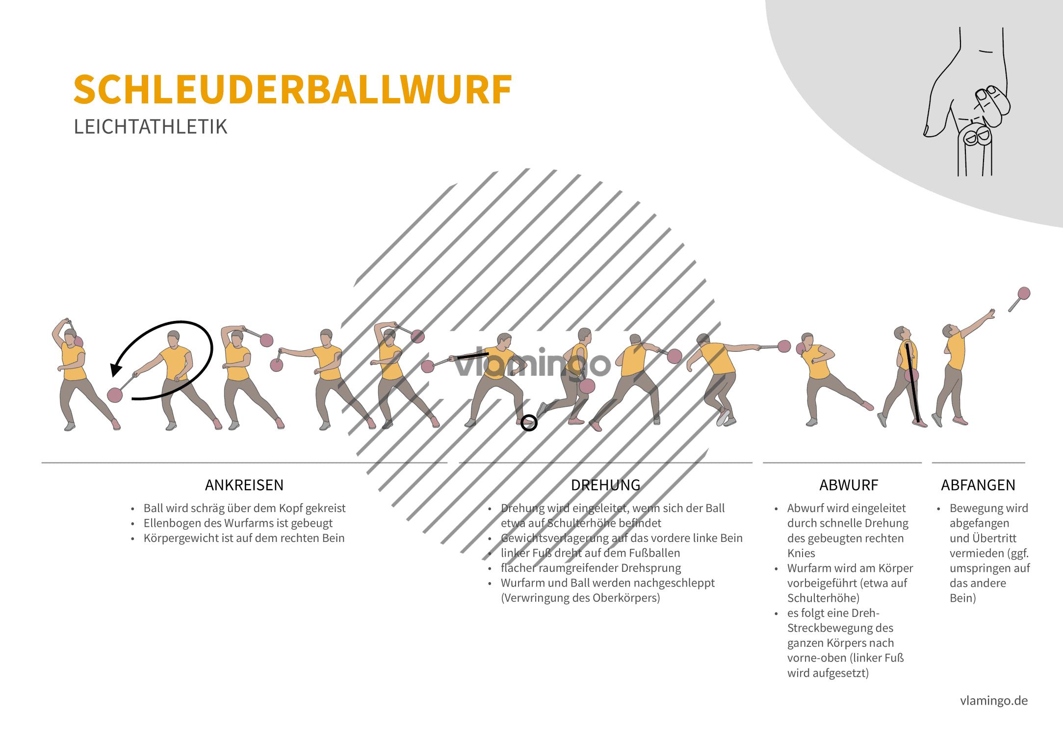 Schleuderballwurf (Bewegungsanalyse) - Leichtathletik