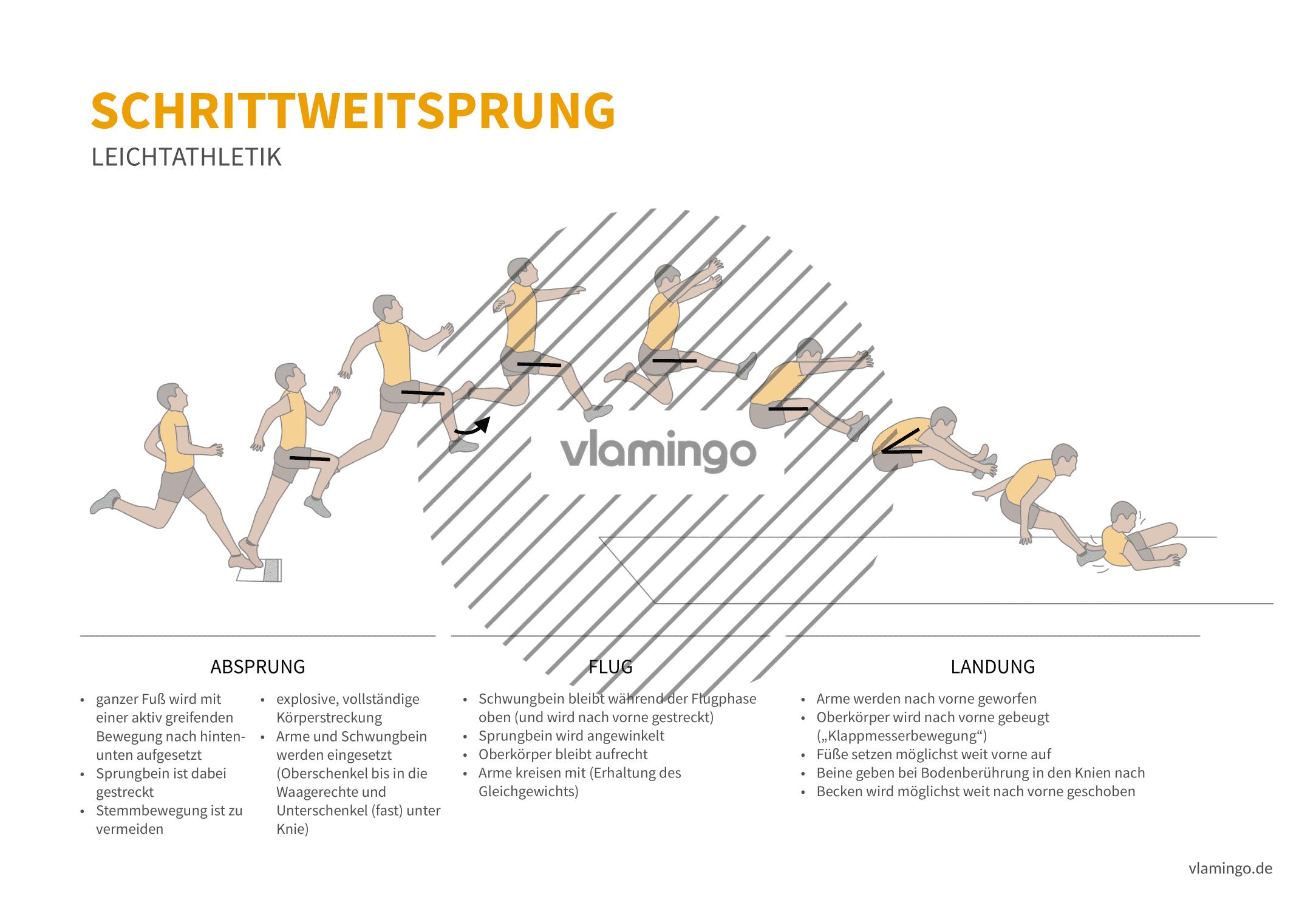 Schrittsprung (Bewegungsanalyse) - Leichtathletik