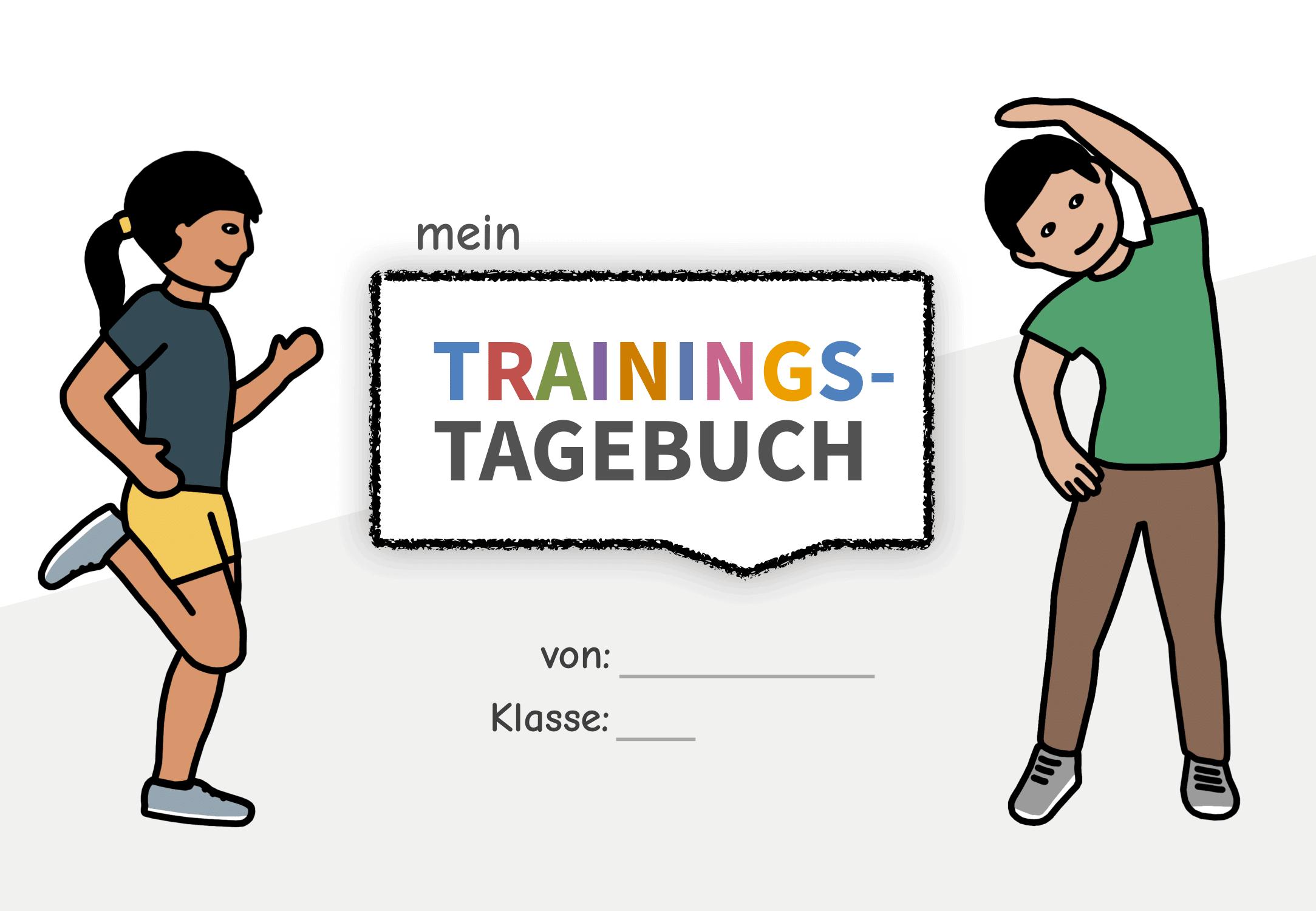 Deckblatt - Trainingstagebuch für Kinder