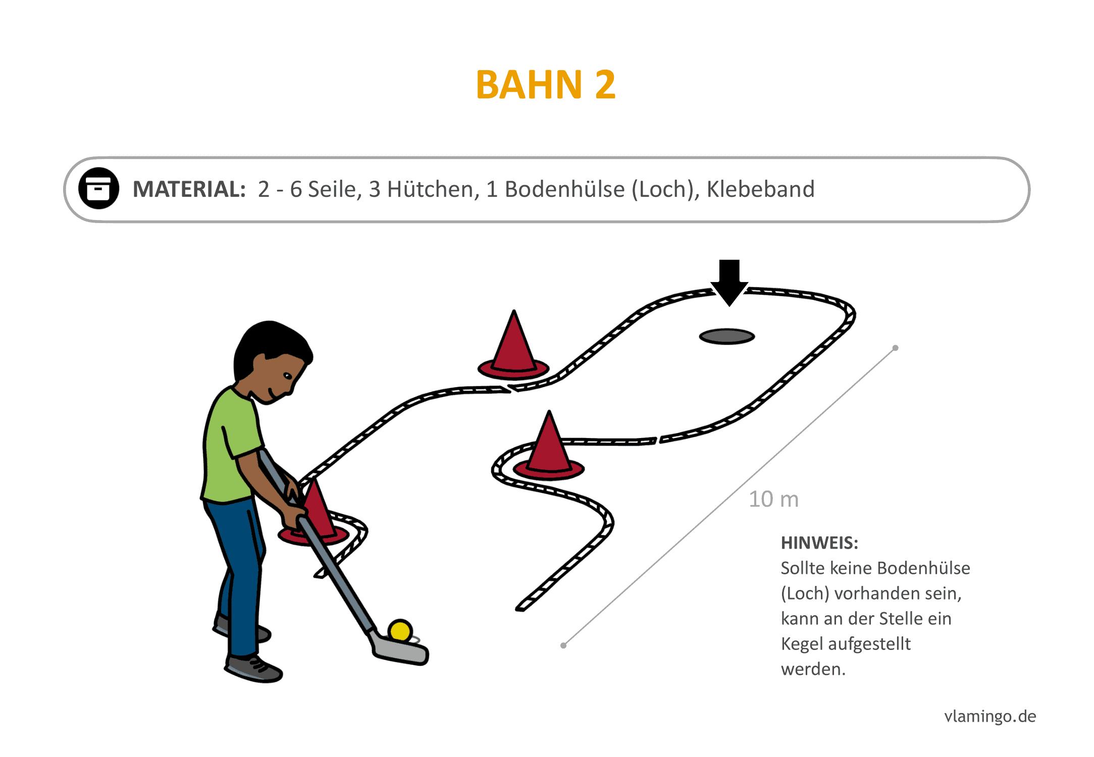 Minigolf-Station 2: Schlangenbahn