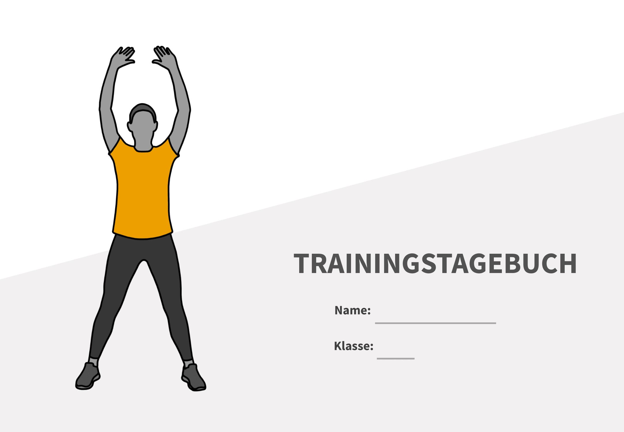 Deckblatt - Trainingstagebuch für Jugendliche