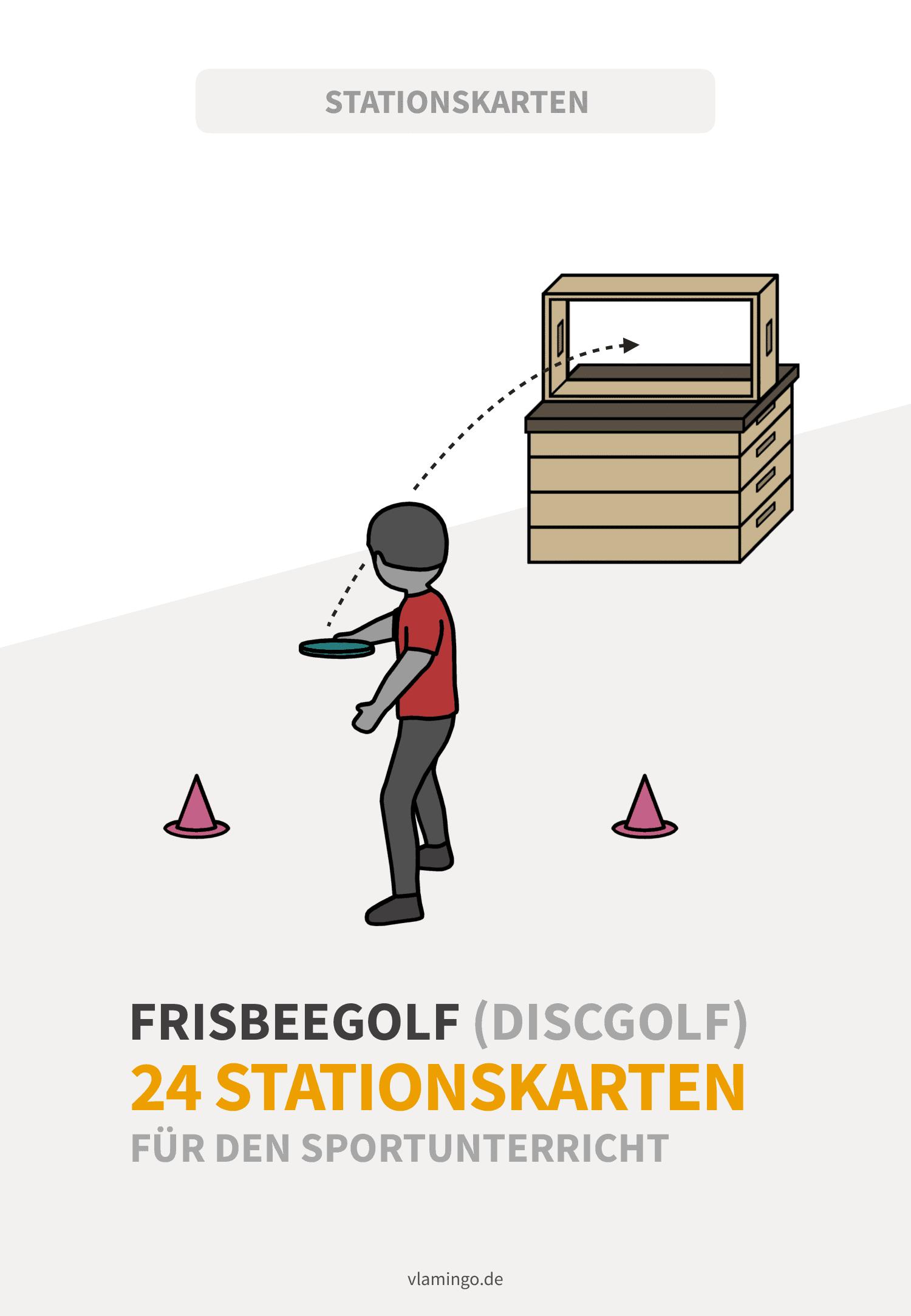 Frisbeegolf - 24 Stationskarten für den Sportunterricht