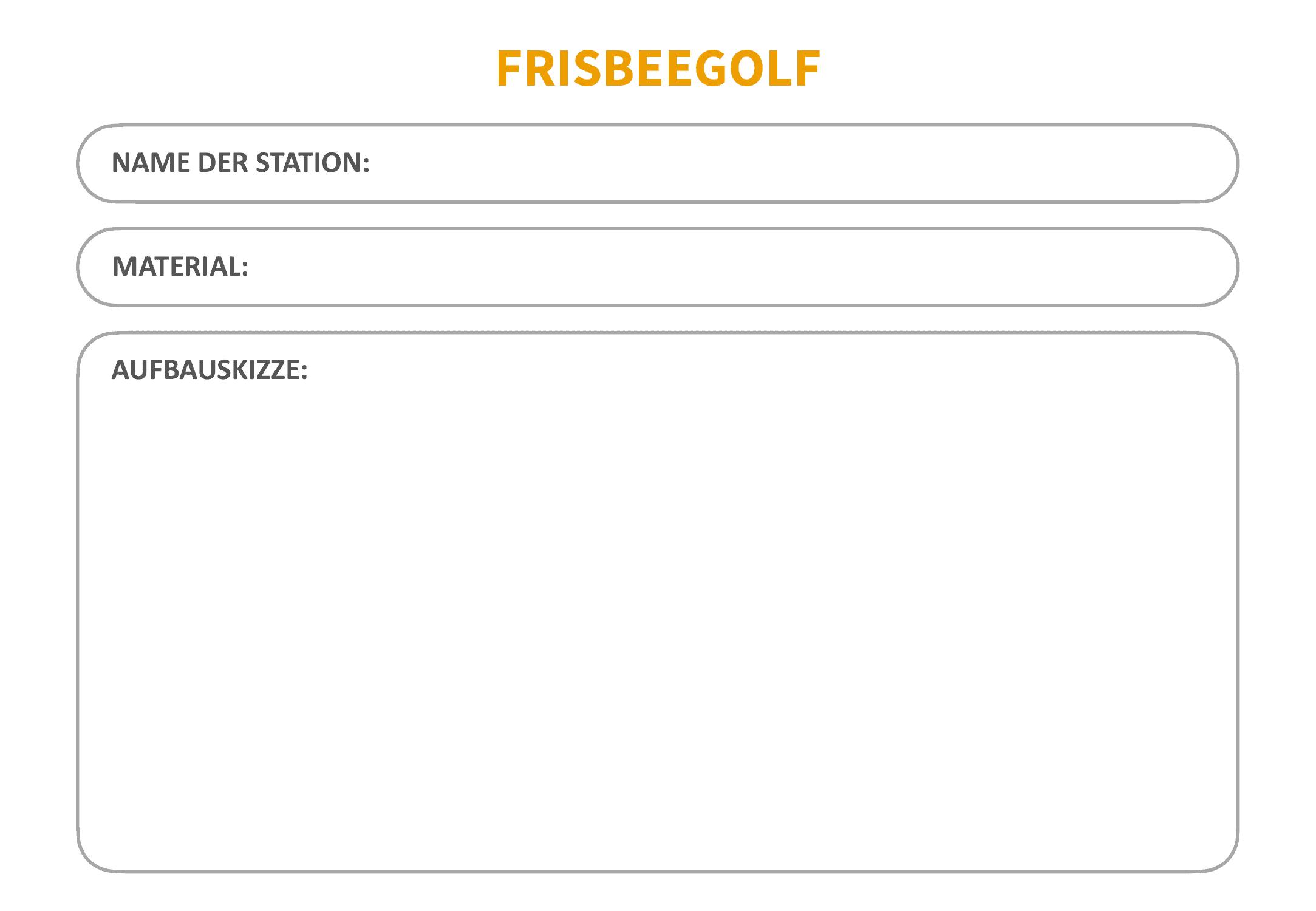 Frisbeegolf (Disc-Golf) - Blanko-Vorlage