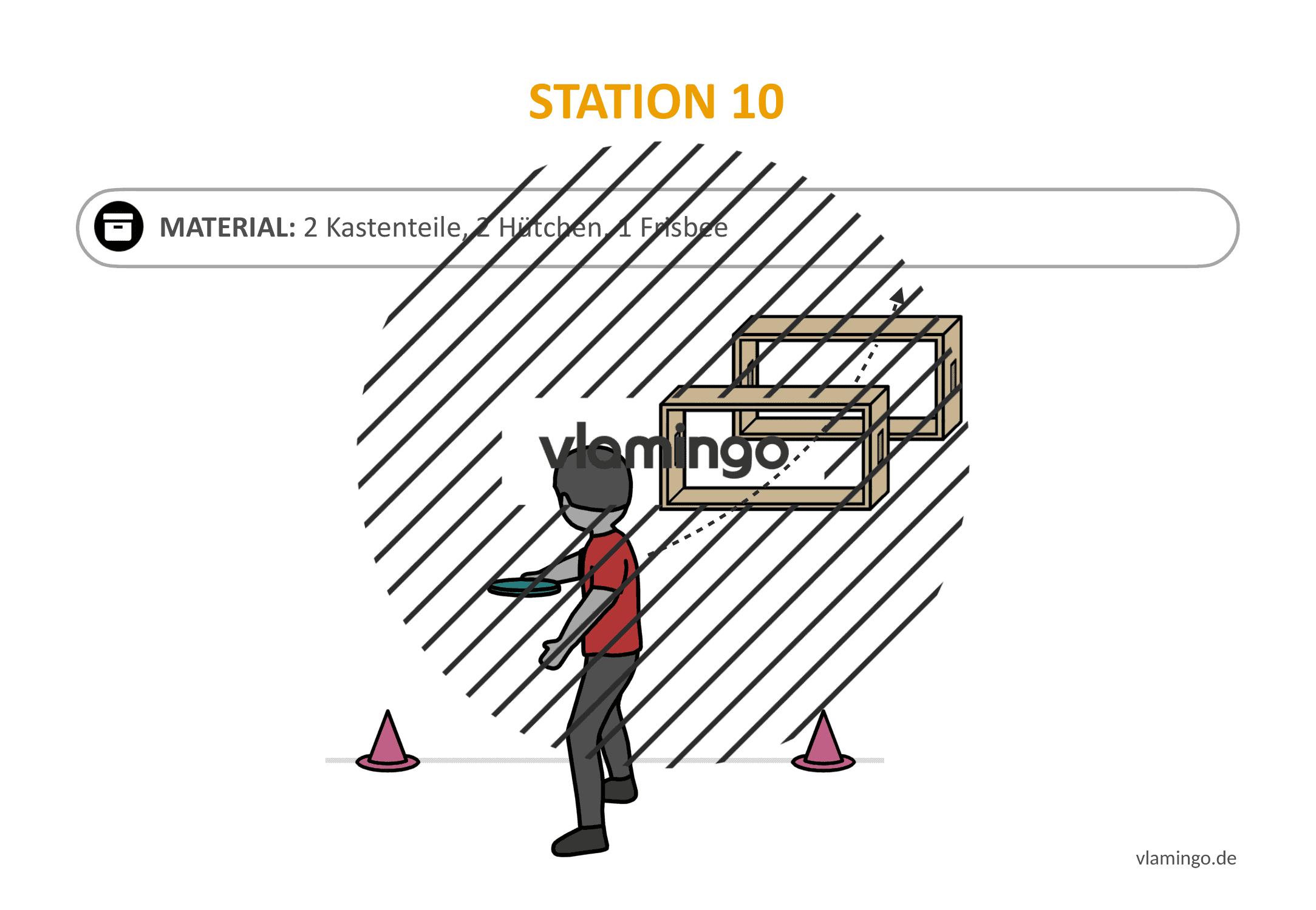 Frisbeegolf (Disc-Golf) - Station 10