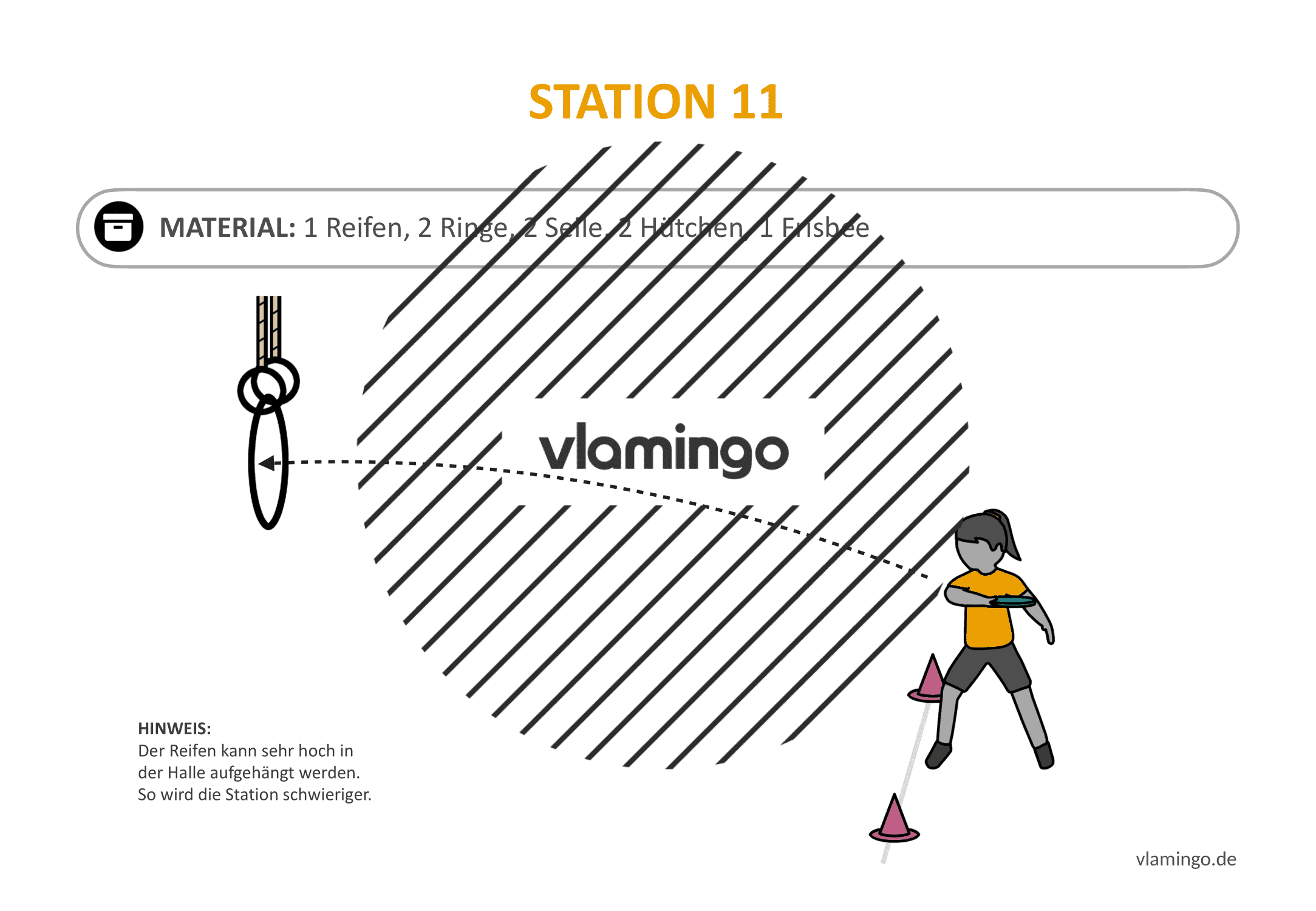 Frisbeegolf (Disc-Golf) - Station 11