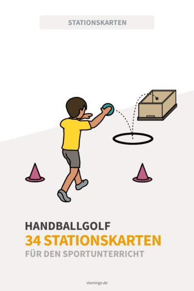 Handballfgolf - 34 Stationskarten für den Sportunterricht