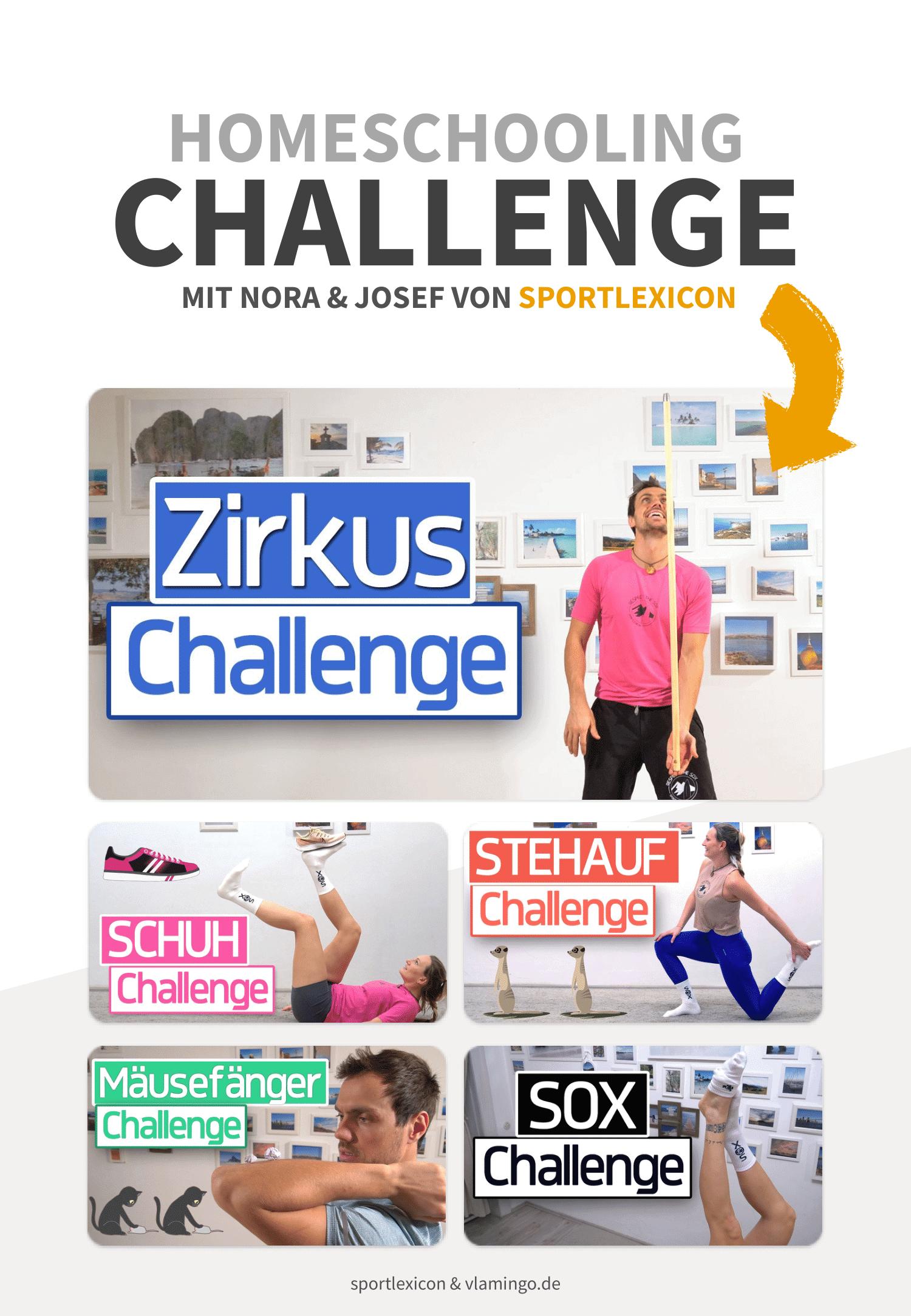 Home-Challenge mit Nora & Josef von sportlexicon