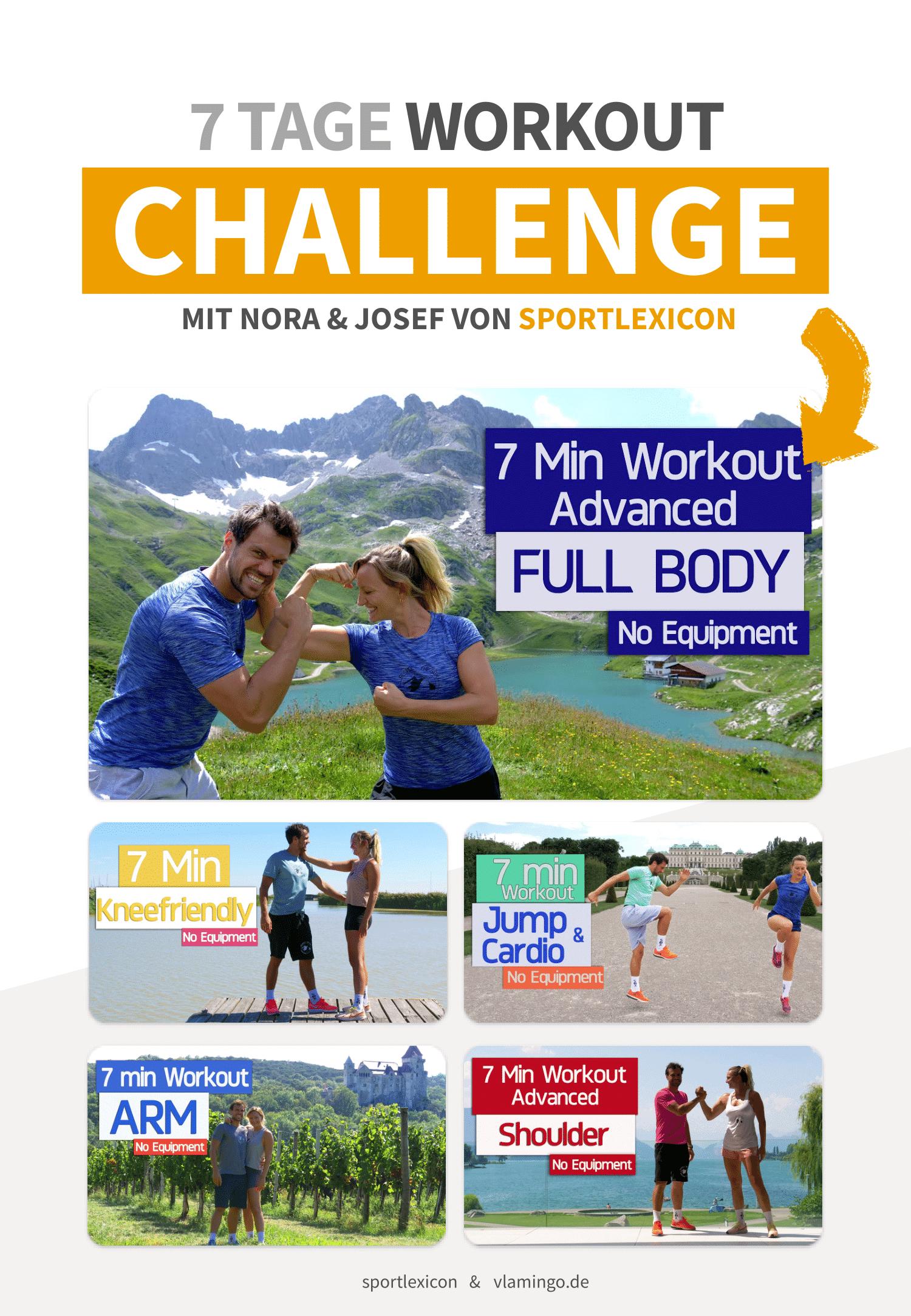 Vorschaubild 1 - 7 Tage Workout-Challenge mit Nora & Josef von sportlexicon